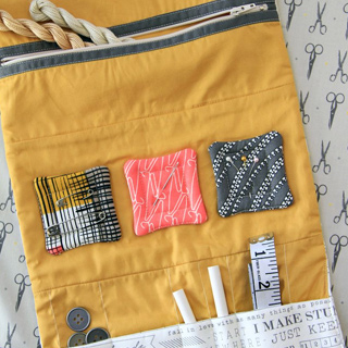 Make and Mend sewing kit free pattern by AGF using Maker fabrics