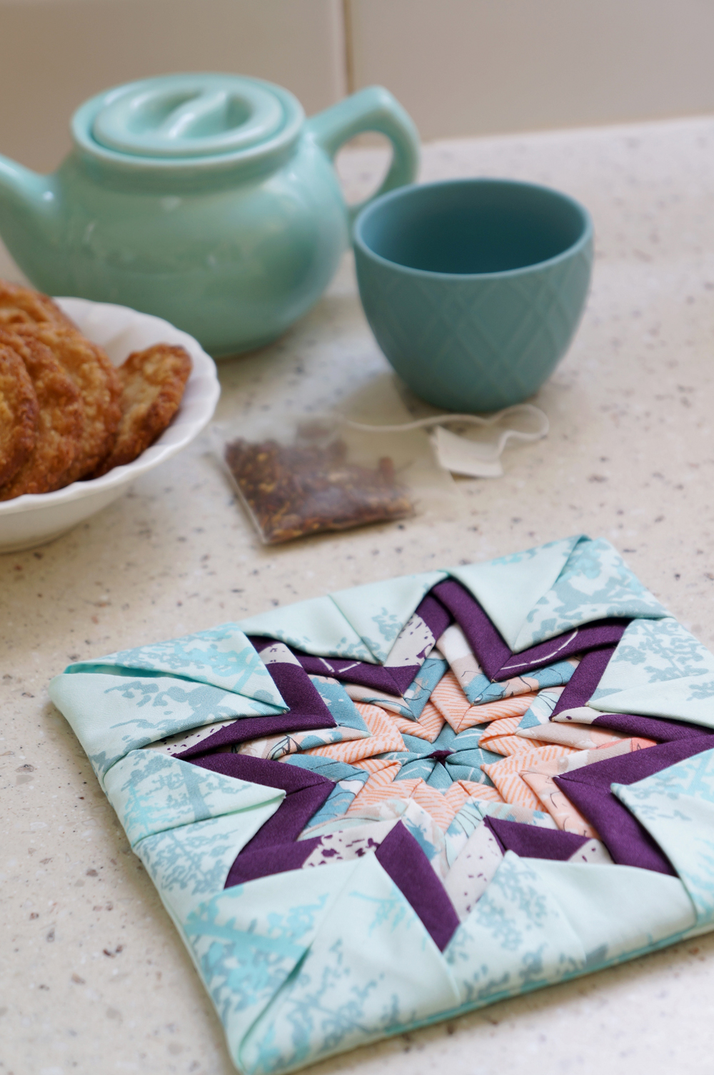 Folded Star potholder by Sharon Holland