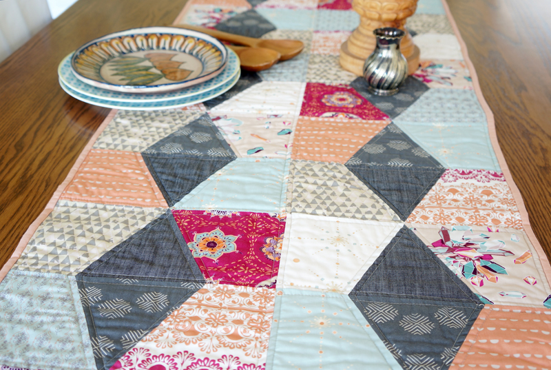 Paper Lanterns Table Runner by Sharon Holland