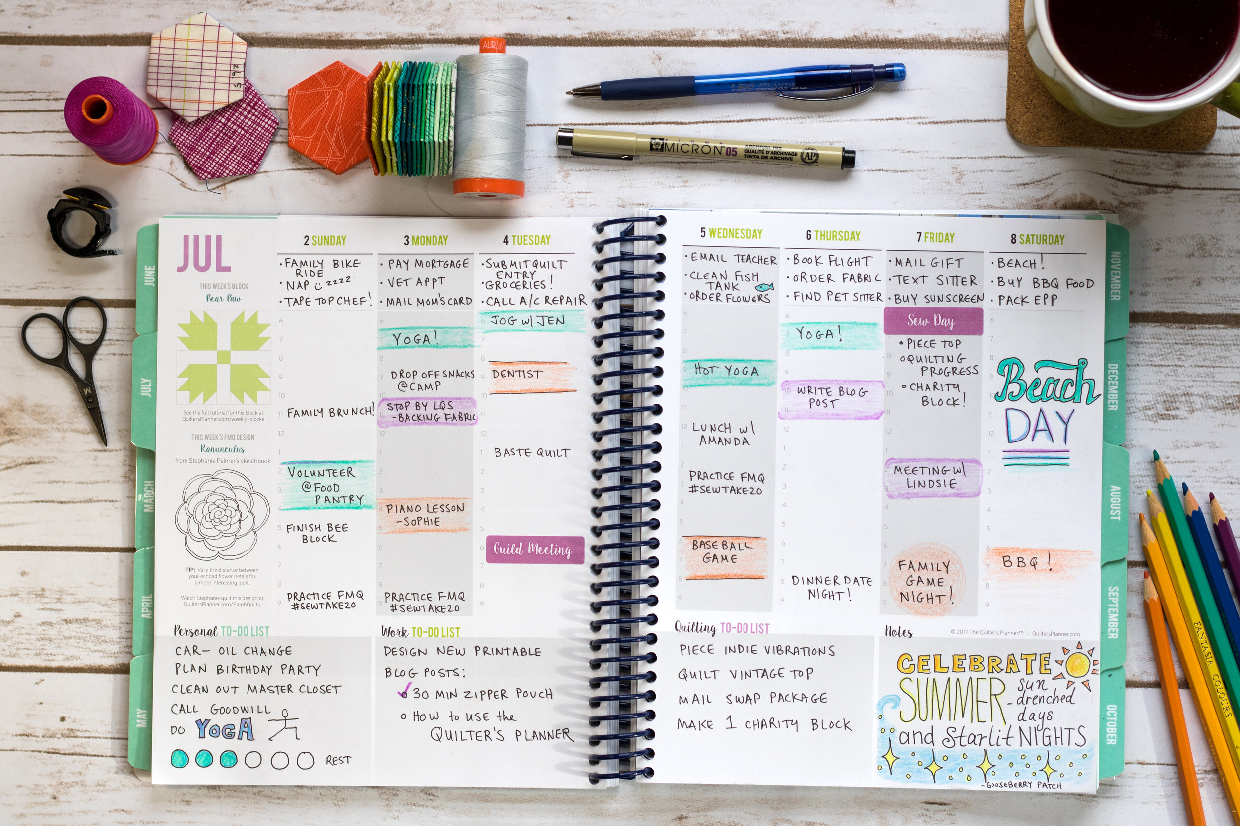 The Quilter's Planner photo courtesy of The Quilter's Planner