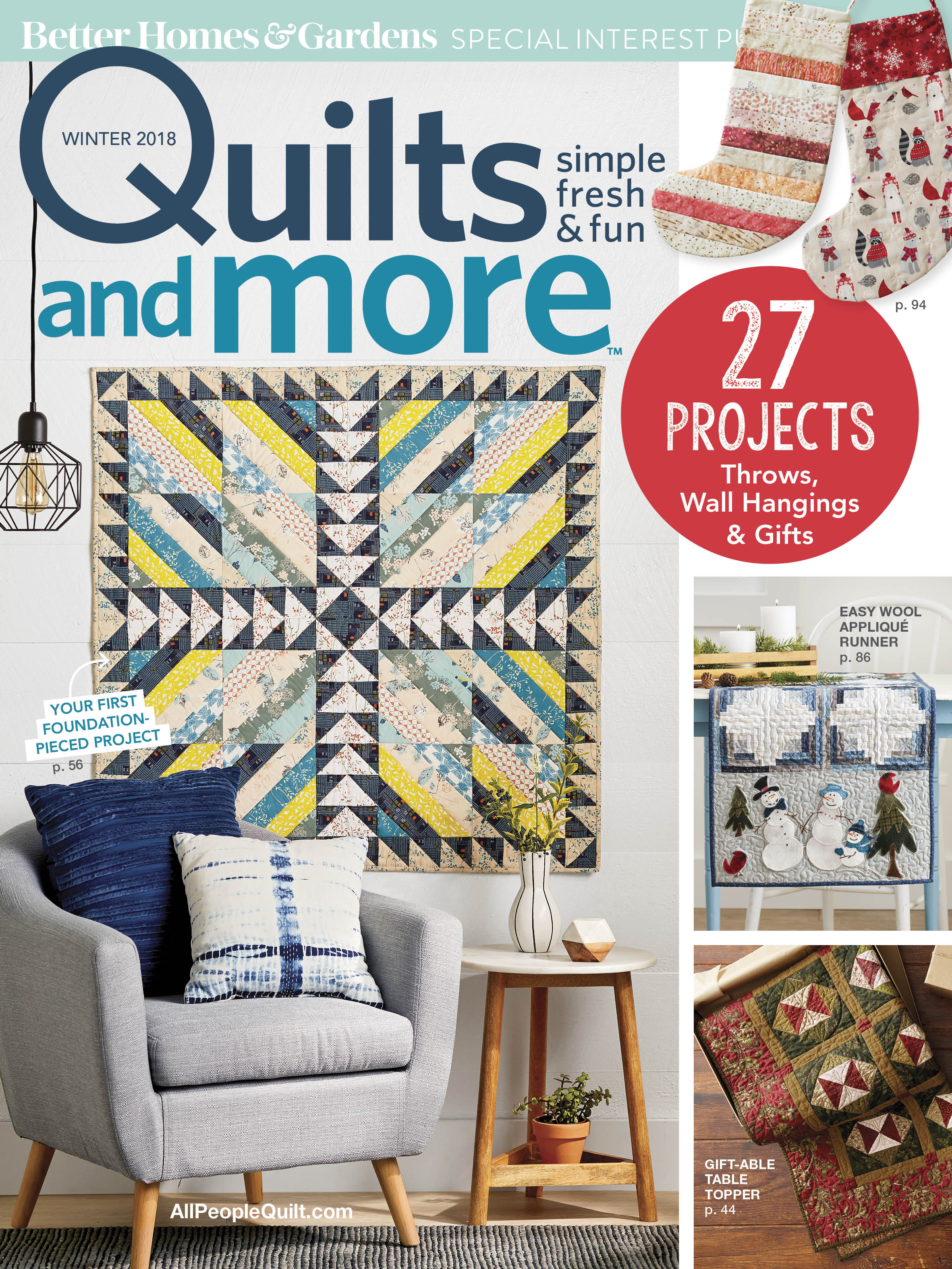 Used with permission from Quilts and More™ magazine. ©2018 Meredith Corporation. All rights reserved.