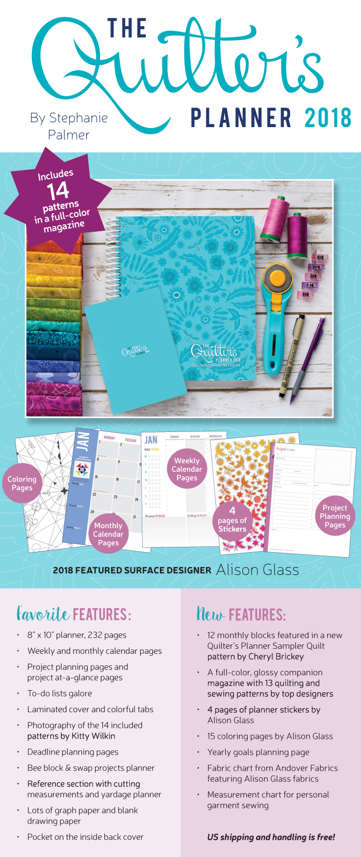 Courstesy of The Quilter's Planner