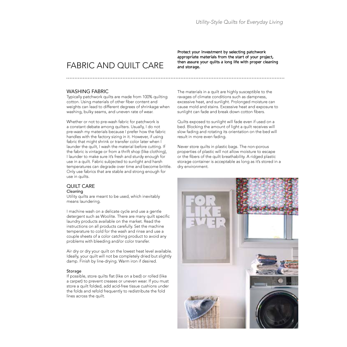 Excerpt from Utility-Style Quilts for Everyday Living book