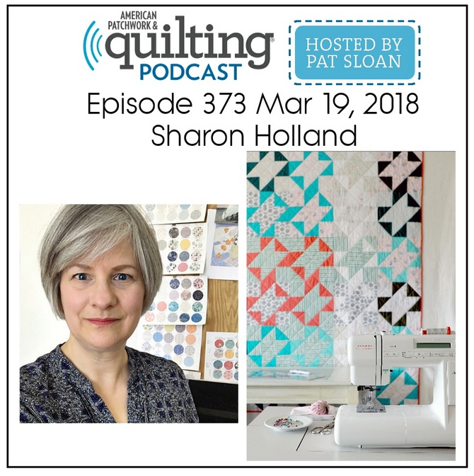 Graphic courtesy of American Patchwork & Quilting Podcast