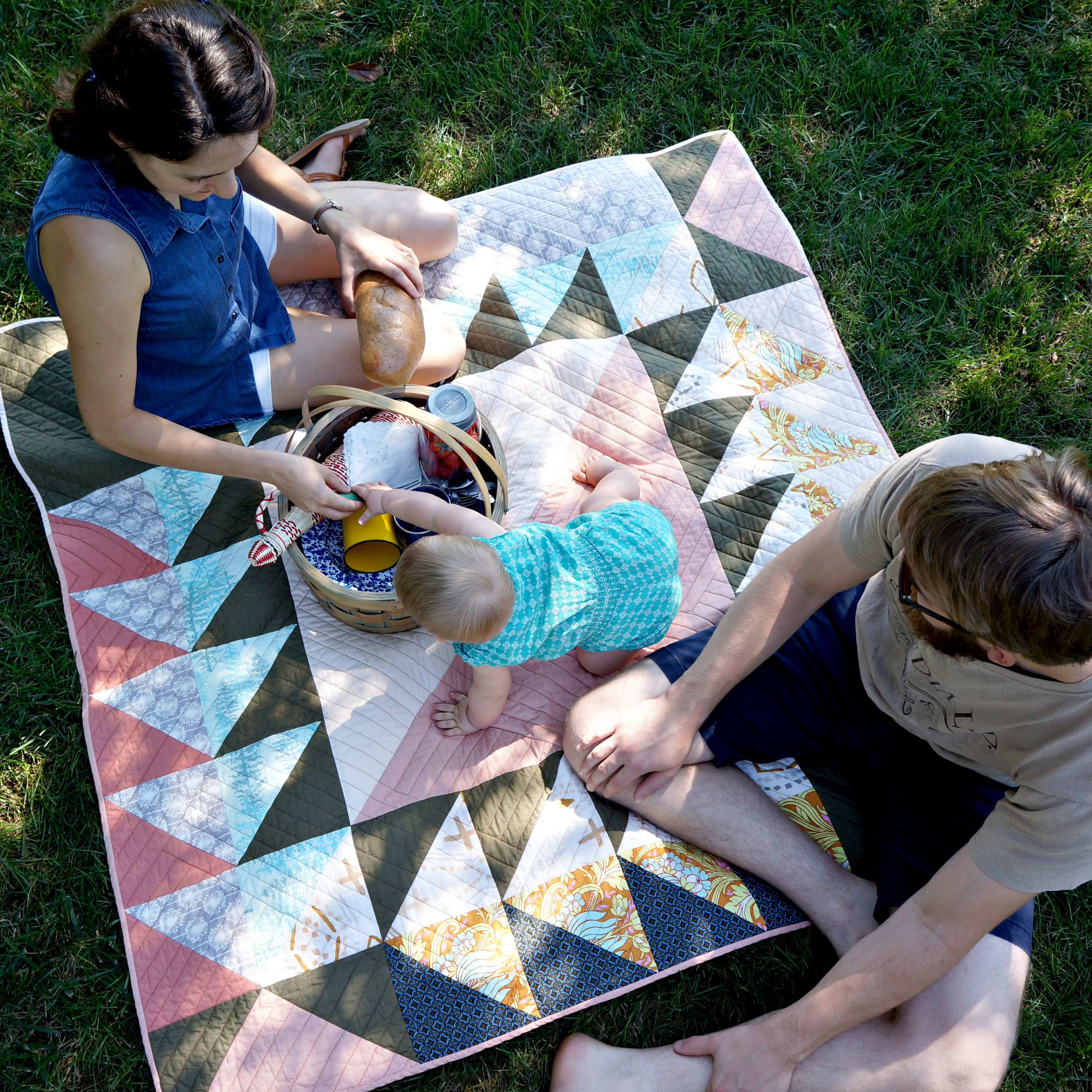 Goose Chase from Utility-Style Quilts for Everyday Living quilt book. Photo by Sharon Holland.