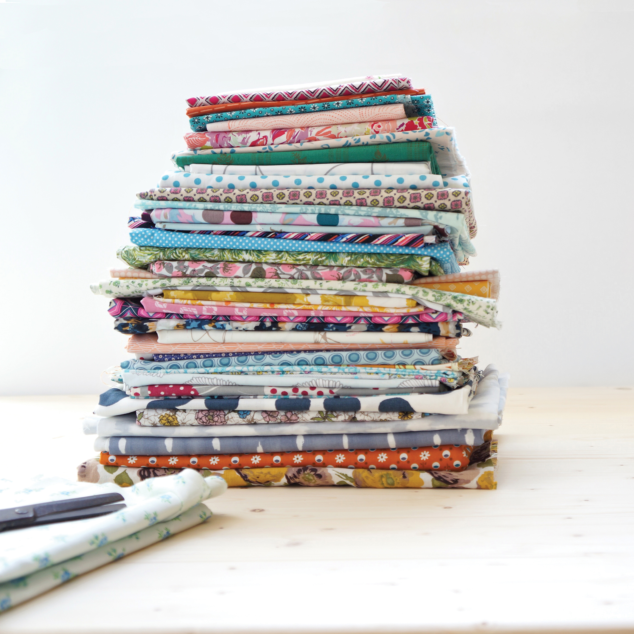Fabric stack photo by Sharon Holland