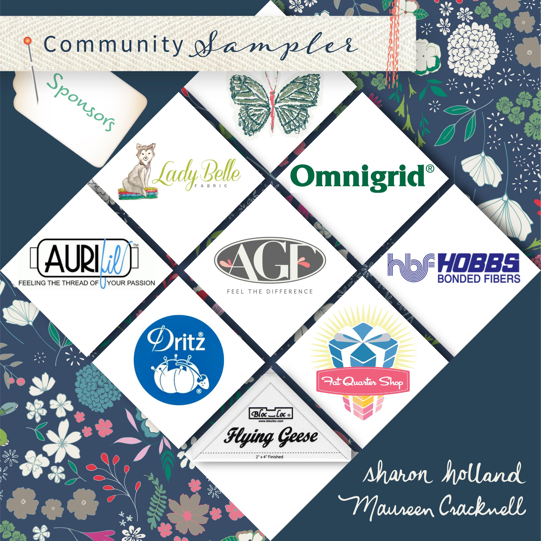 Lady Belle Fabric  Omnigrid  - Aurifil Thread  - Art Gallery Fabrics  -  Hobbs Batting -  Dritz  - Fat Quarter Shop -  Bloc-Loc