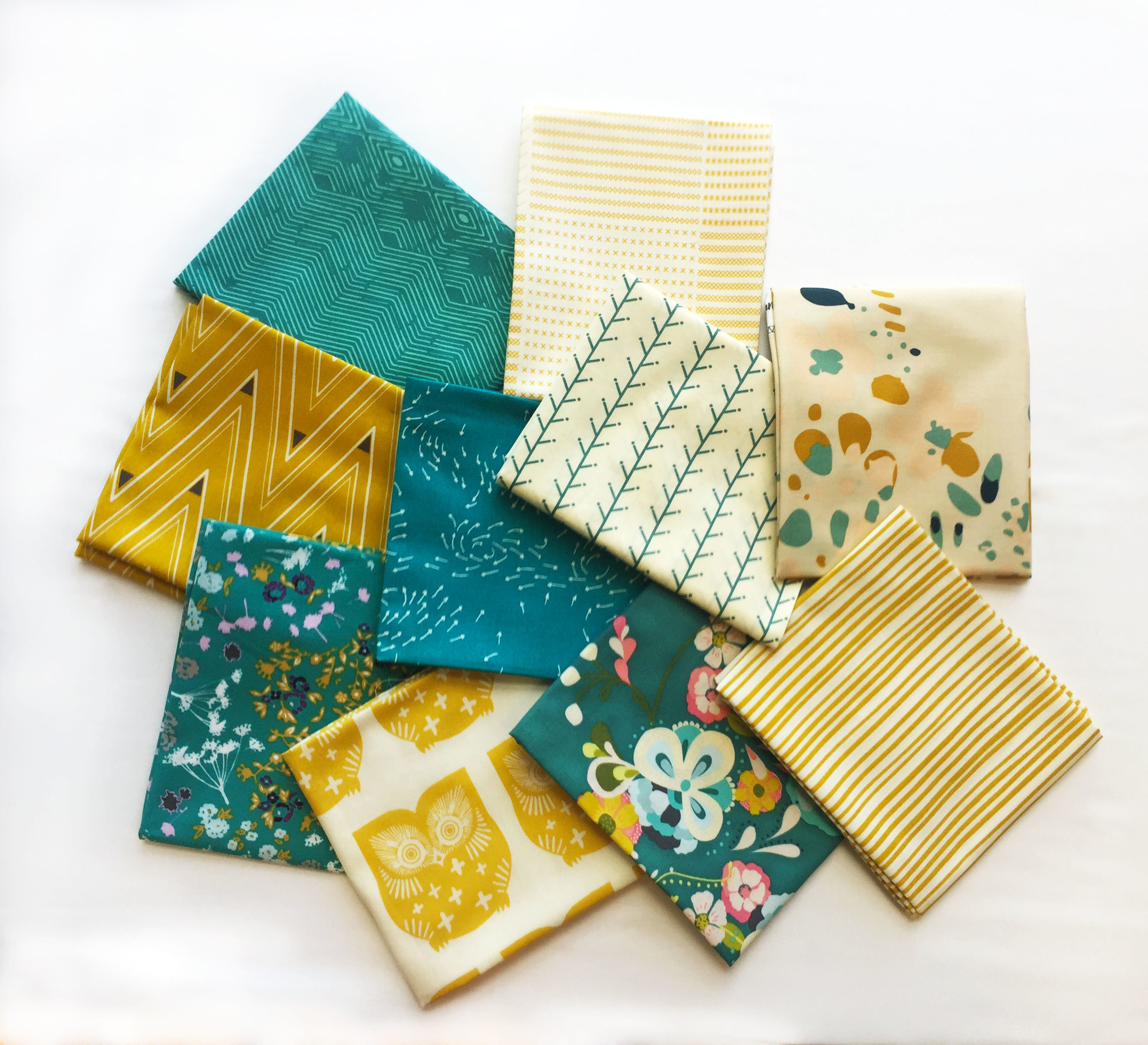 AGF Blue-Yellow fabric bundle