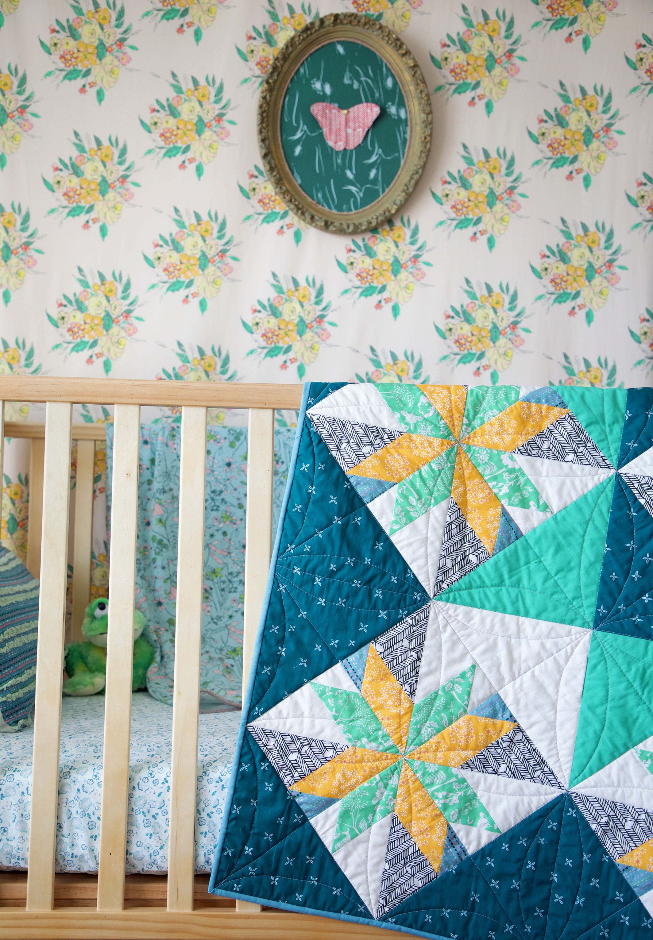 Star Light quilt on crib.jpg