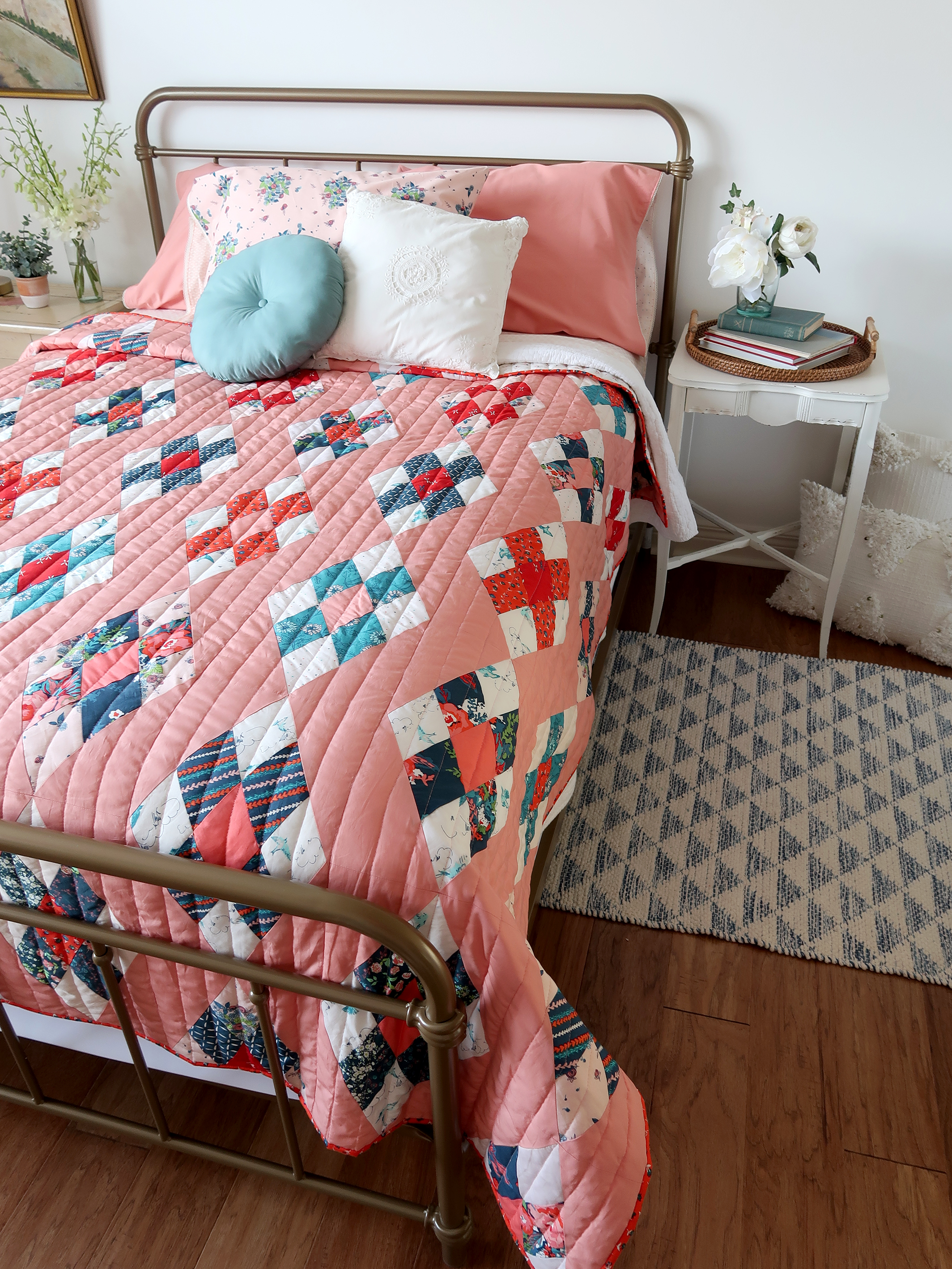 Diamond-Cut Quilt designed, made, and photographed by Sharon Holland