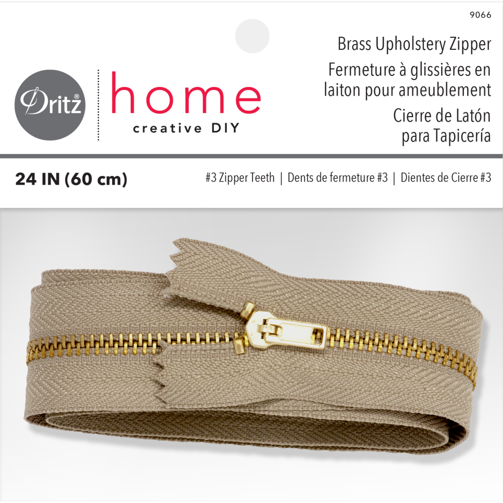 24'' Brass Upholstery Zipper by Dritz Home