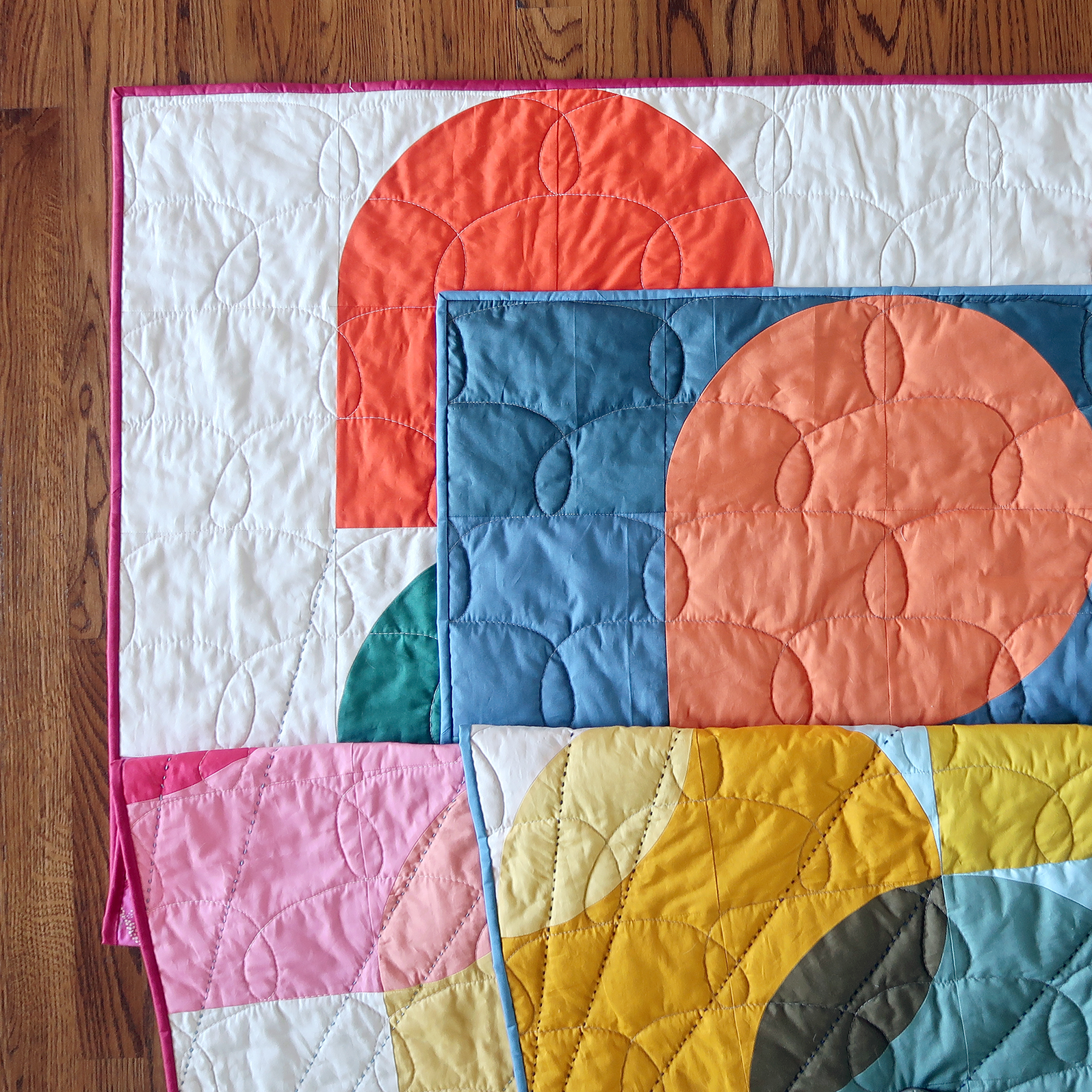 Hold Tight quilt throw-size by Sharon Holland