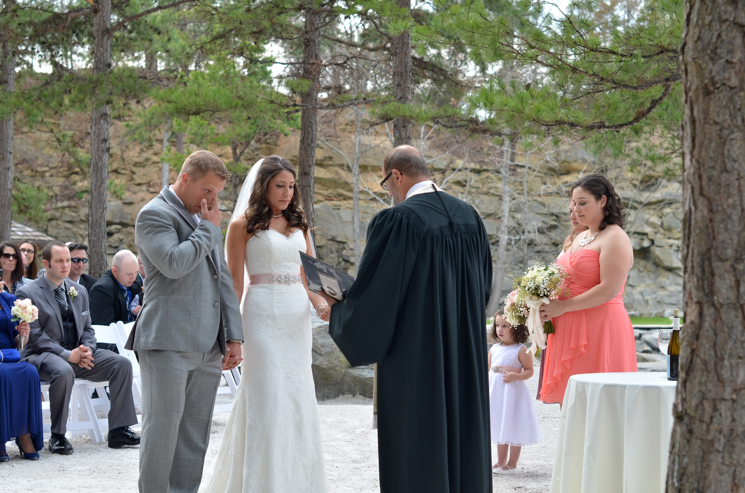 The personal blessing of her father was very touching.