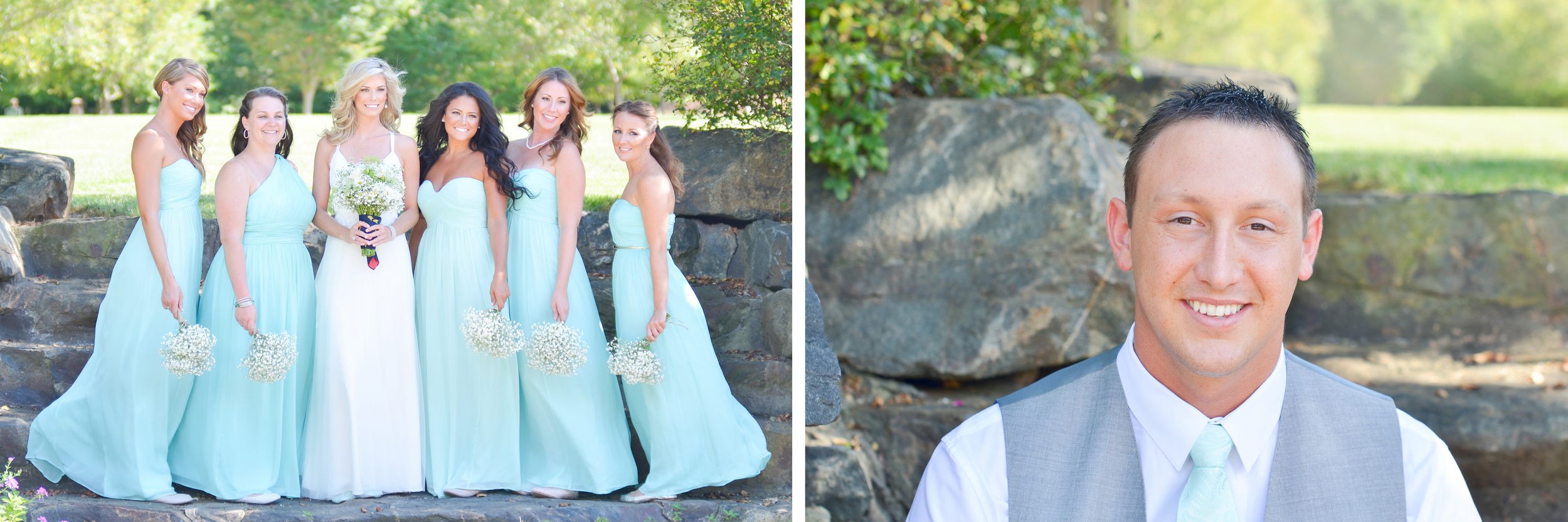 The beautiful belles and the handsome groom.
