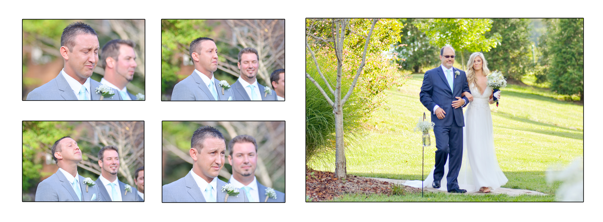 One of my absolute favorite parts of the ceremony is watching the grooms expression as his bride walks towards him. & this groom was so expressive. <3 so cute!