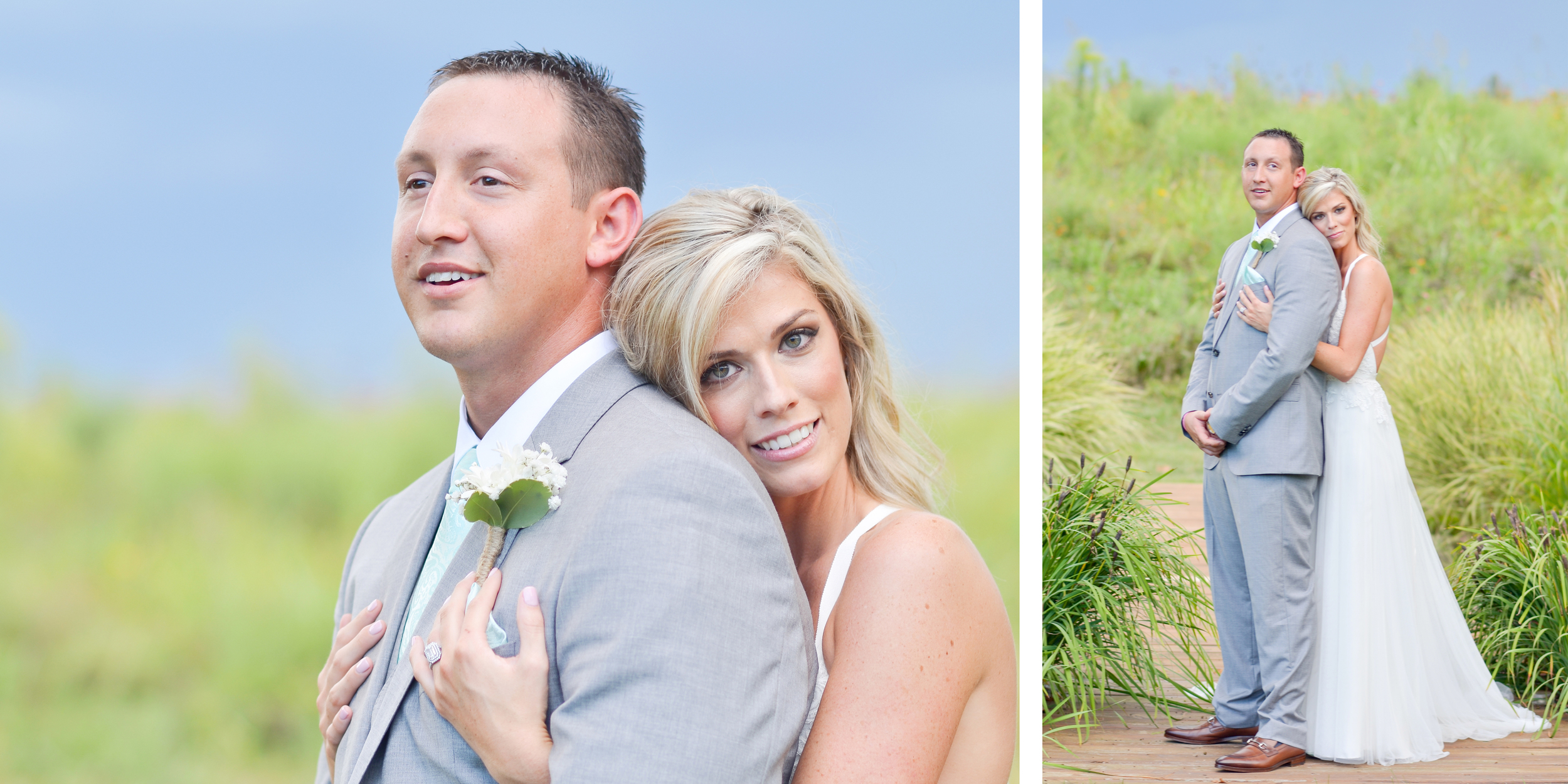 The picture on my left is one of my all time favorite 'just married' shots! Stunning couple.