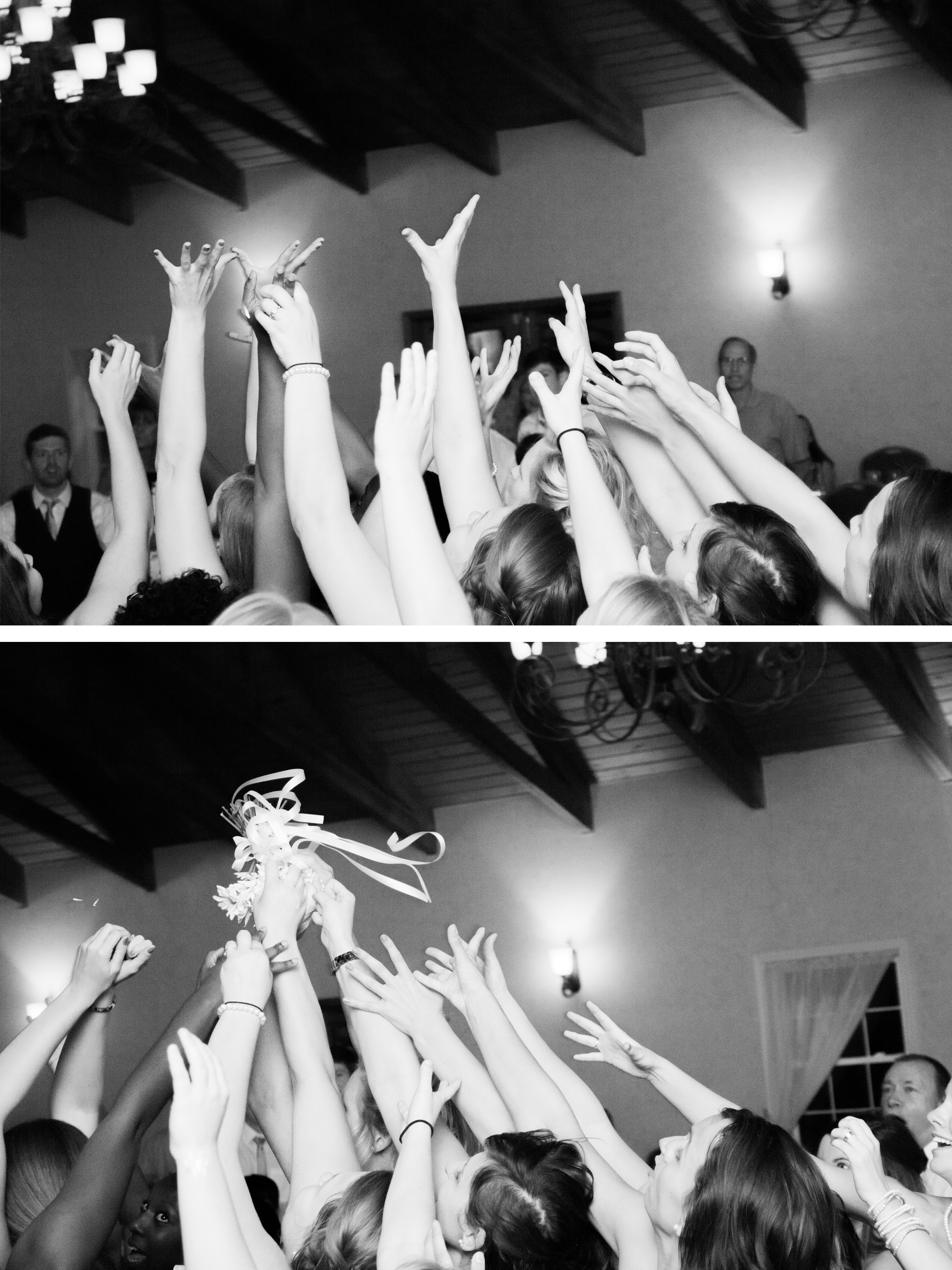 Then there was the bouquet toss.