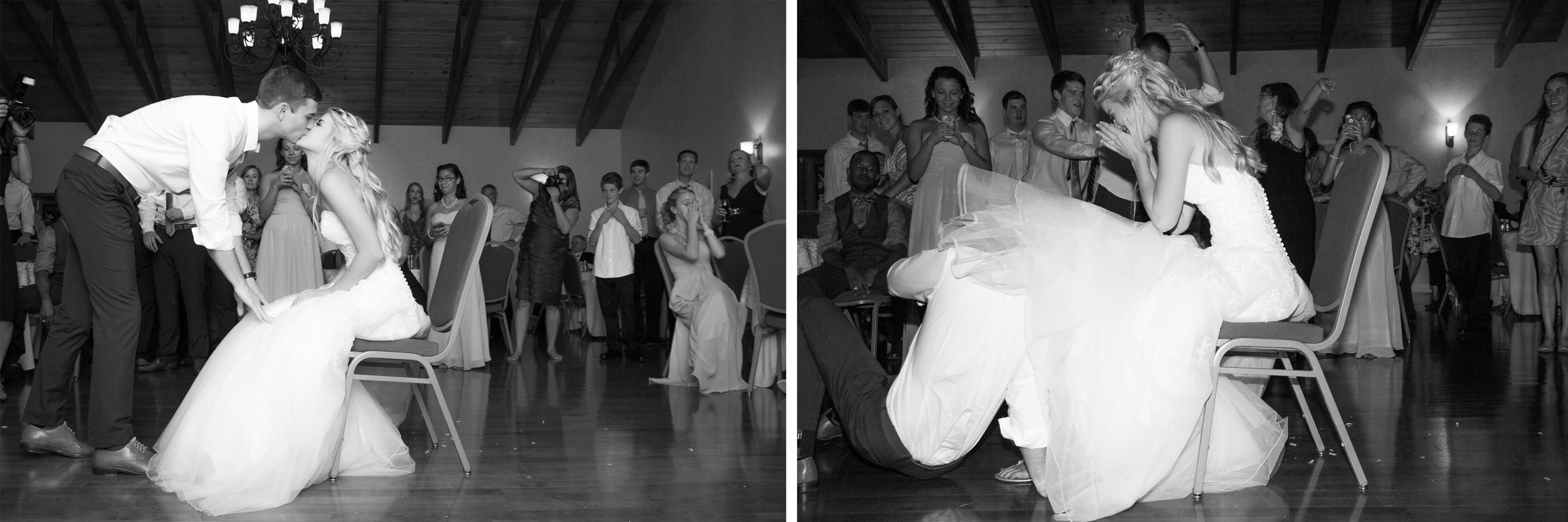 The garter retrieving was way more exciting than the garter toss!