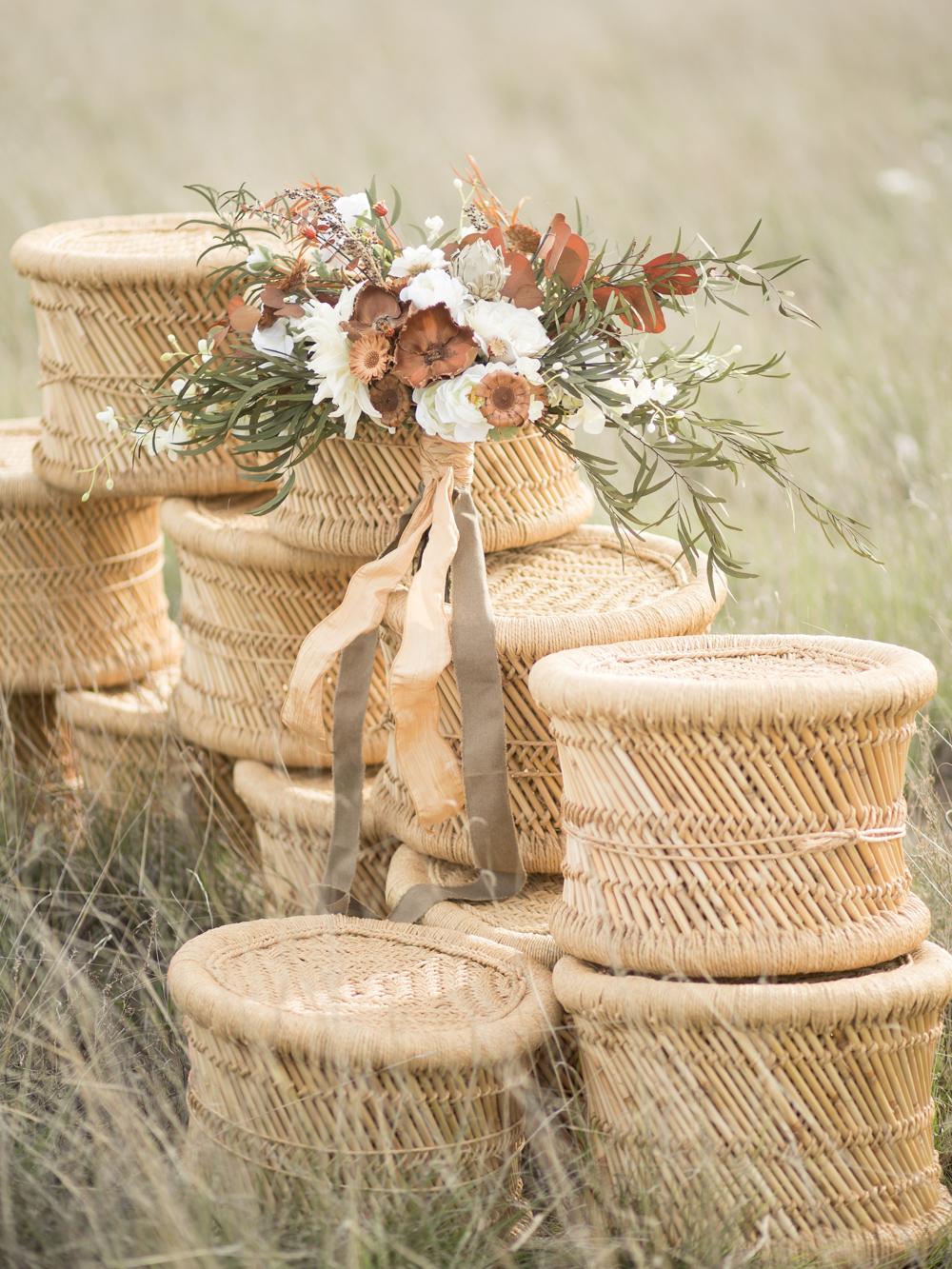 dried + silk bouquet by Clayton Austin