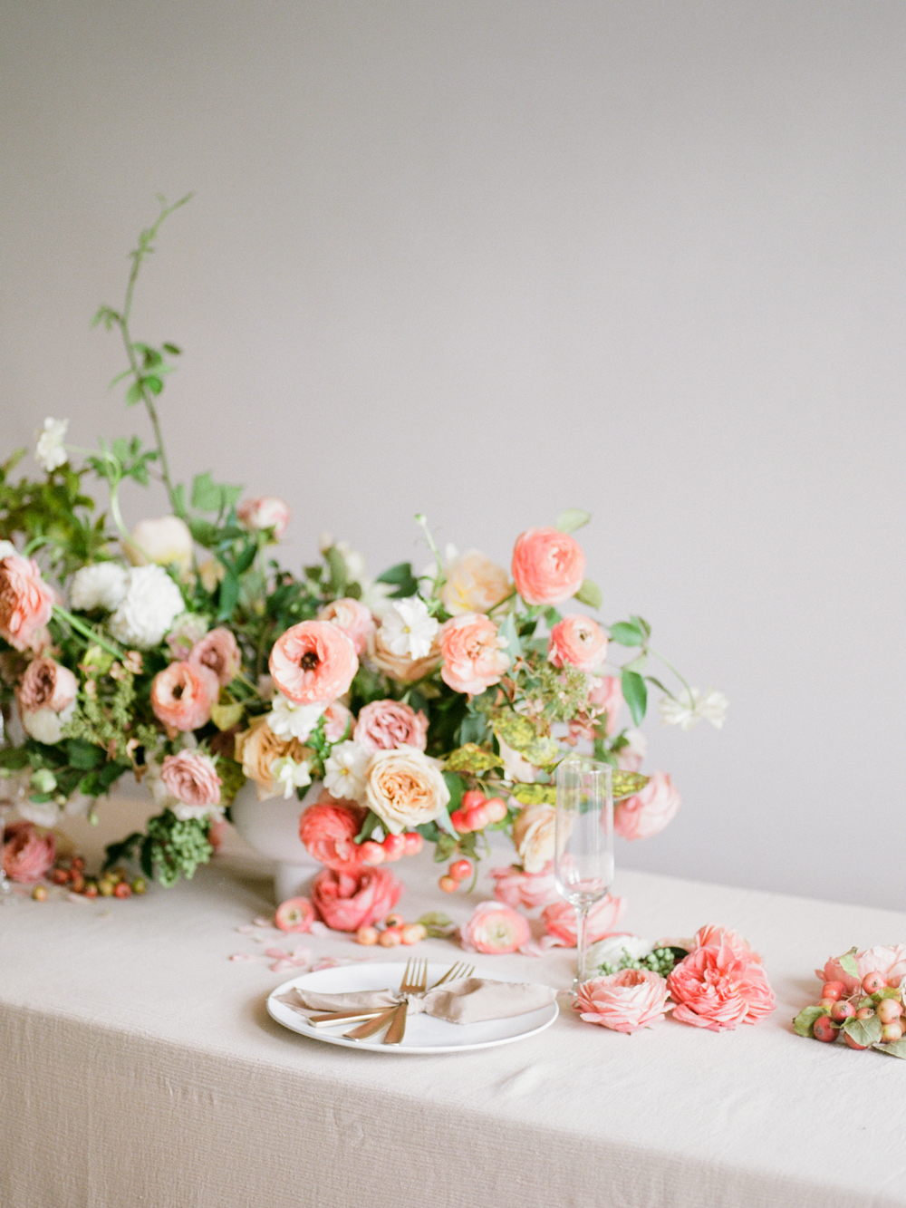 film wedding photographer - Houston wedding photographer - intimate wedding photographer - Christine Gosch - fall wedding inspiration - blush fall wedding - wedding flowers - fall wedding flowers - wedding table inspo-2- Maxit Flower Design.jpg