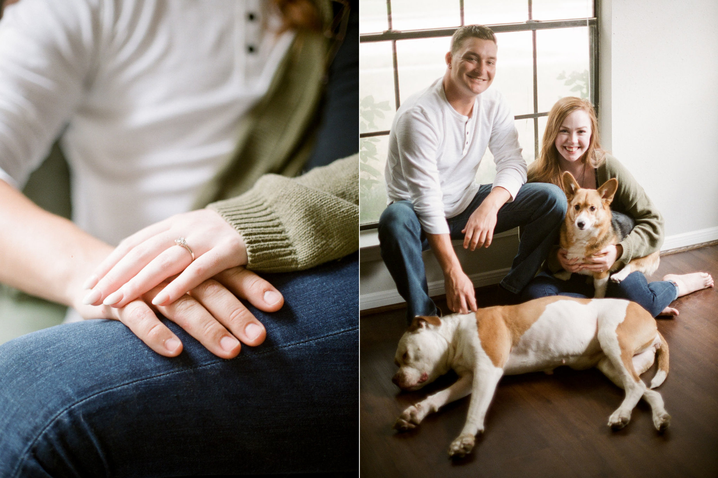in home engagement session - film photographer - houston wedding photographer-9.jpg