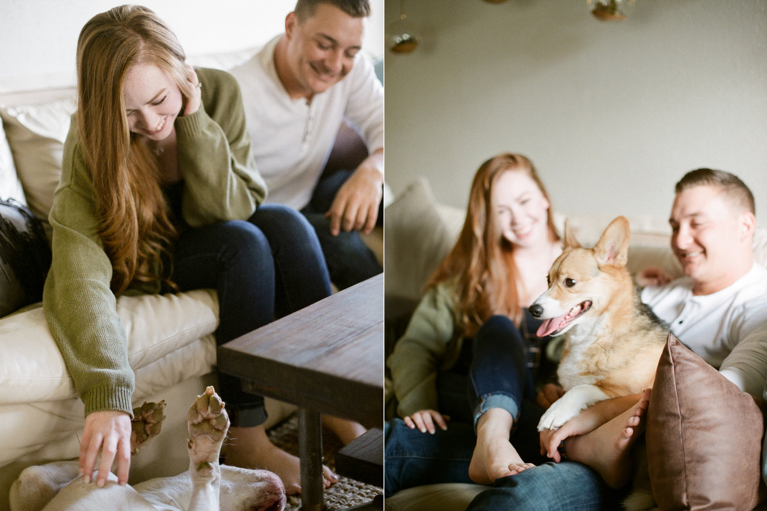 in home engagement session - film photographer - houston wedding photographer-11.jpg