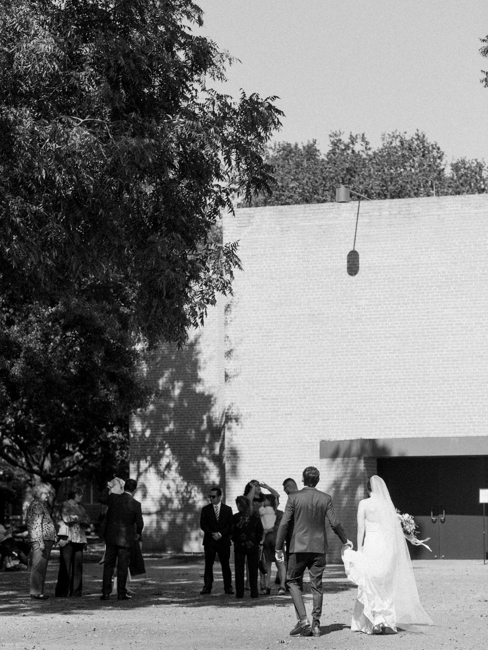 fall wedding at rothko chapel- houston wedding photographer-christine gosch - film photographer - elopement photographer- intimate wedding - lovely bride wedding gown-18.jpg