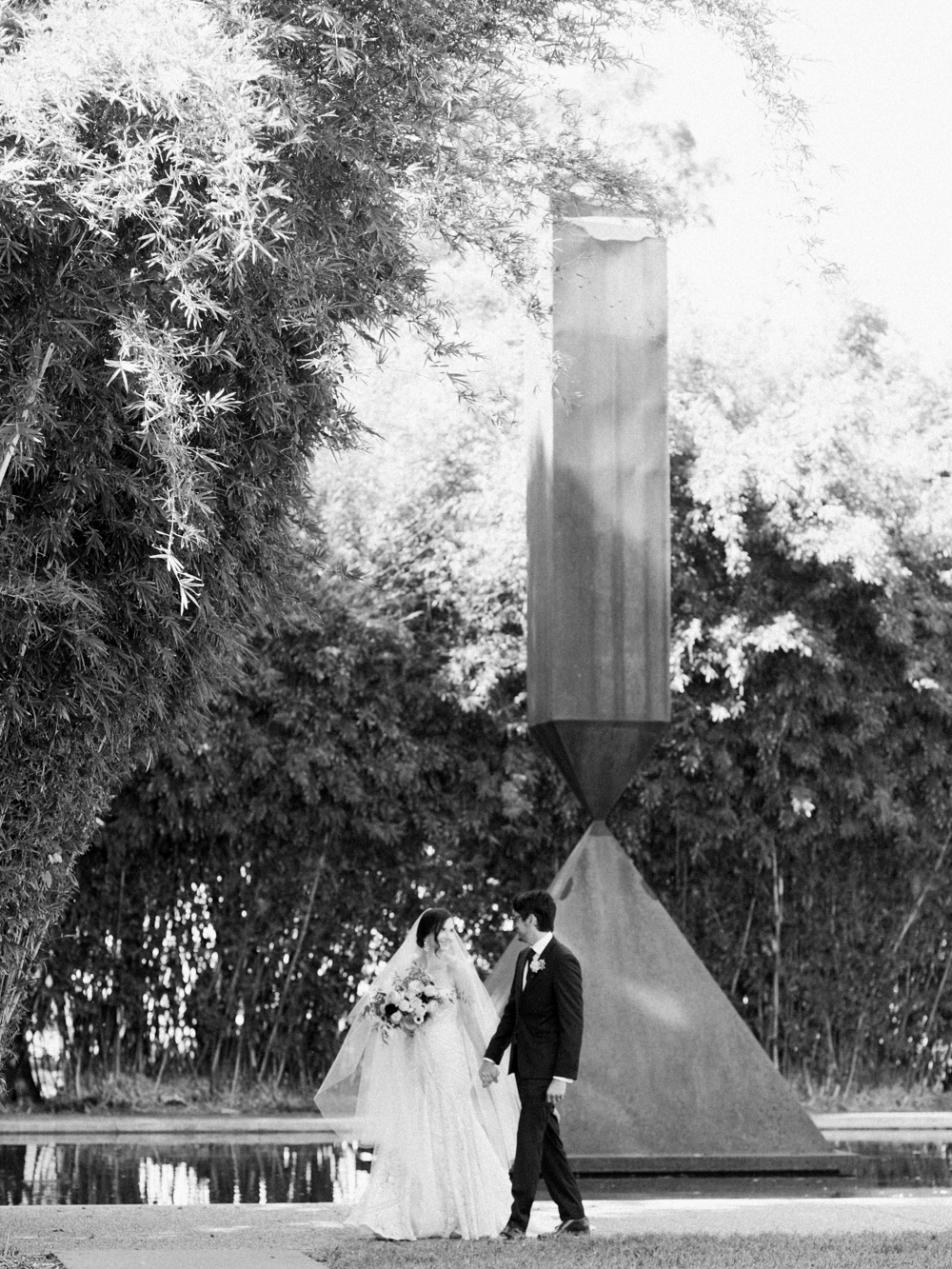 fall wedding at rothko chapel- houston wedding photographer-christine gosch - film photographer - elopement photographer- intimate wedding - lovely bride wedding gown-16.jpg