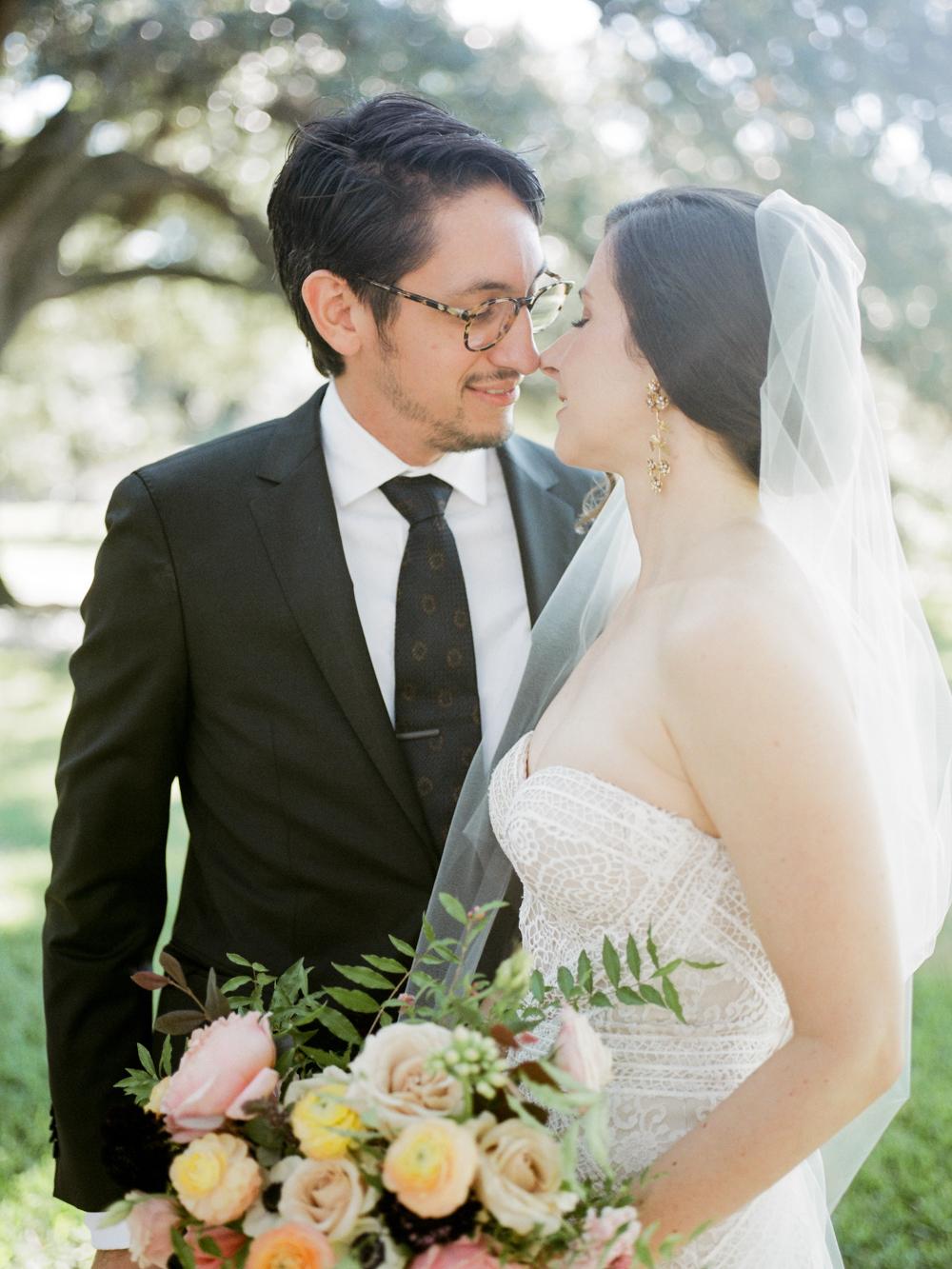 fall wedding at rothko chapel- houston wedding photographer-christine gosch - film photographer - elopement photographer- intimate wedding - lovely bride wedding gown-12.jpg