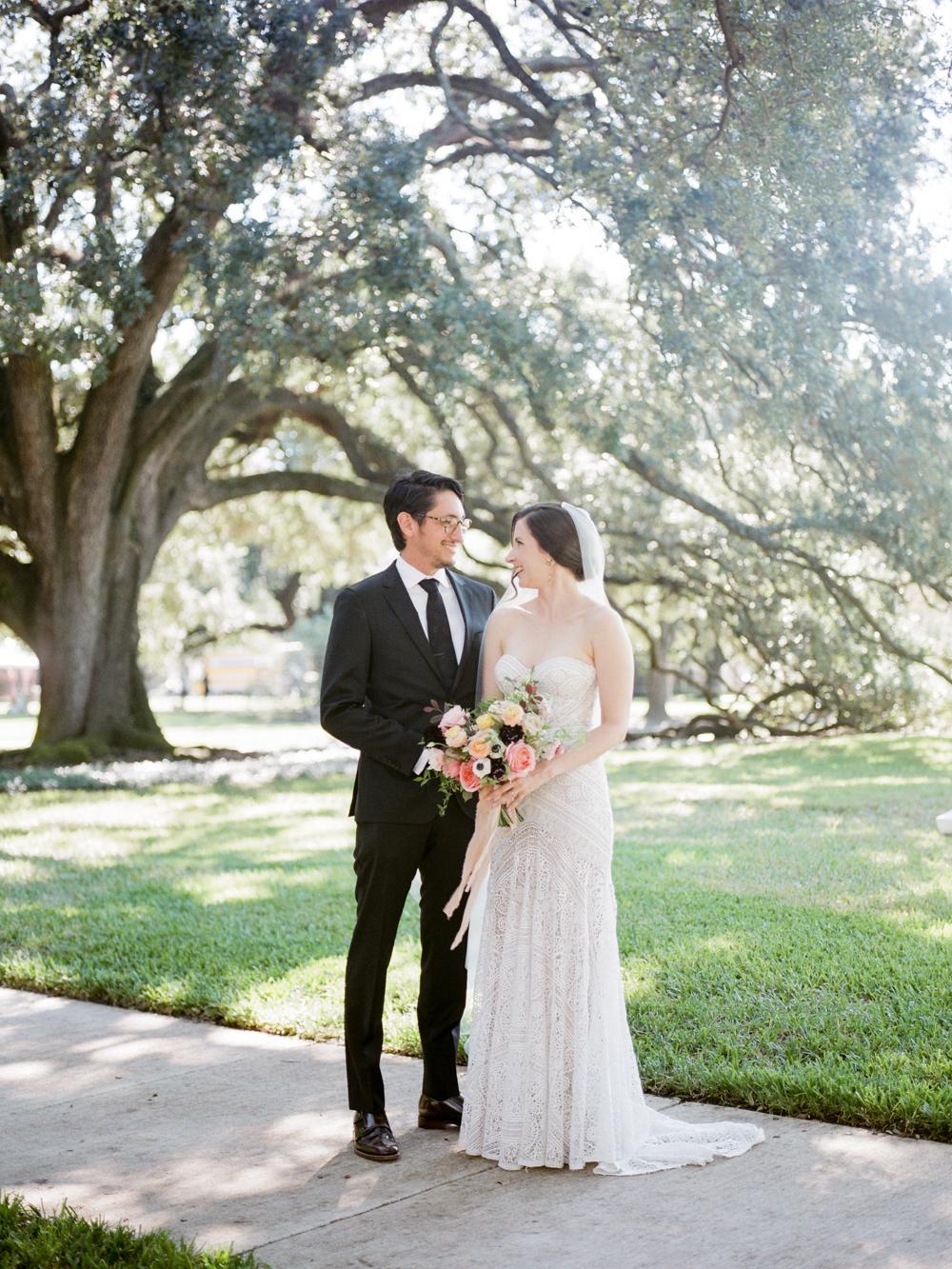 fall wedding at rothko chapel- houston wedding photographer-christine gosch - film photographer - elopement photographer- intimate wedding - lovely bride wedding gown-13.jpg