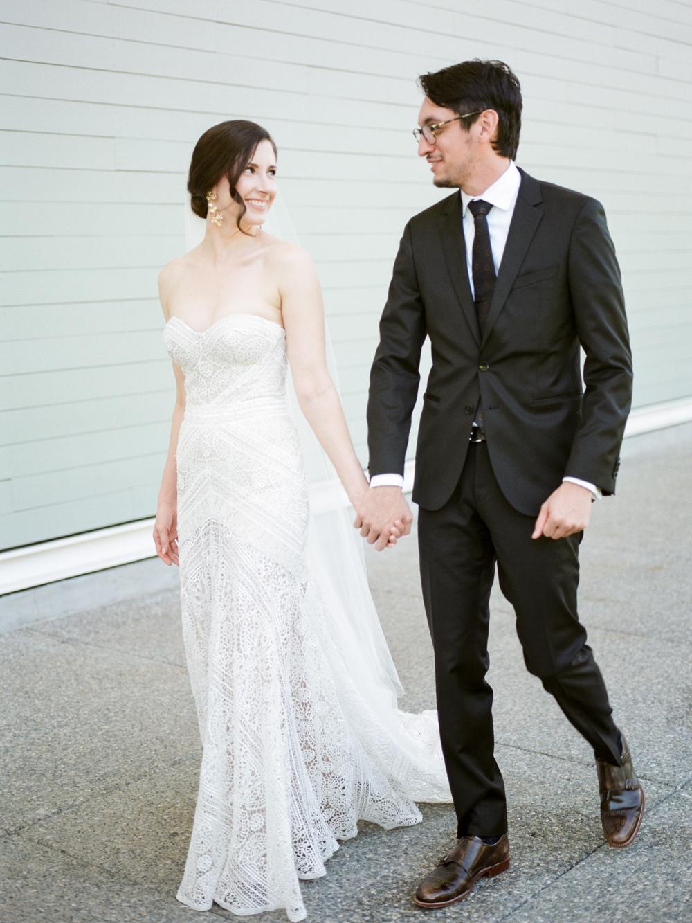 fall wedding at rothko chapel- houston wedding photographer-christine gosch - film photographer - elopement photographer- intimate wedding - lovely bride wedding gown-8.jpg