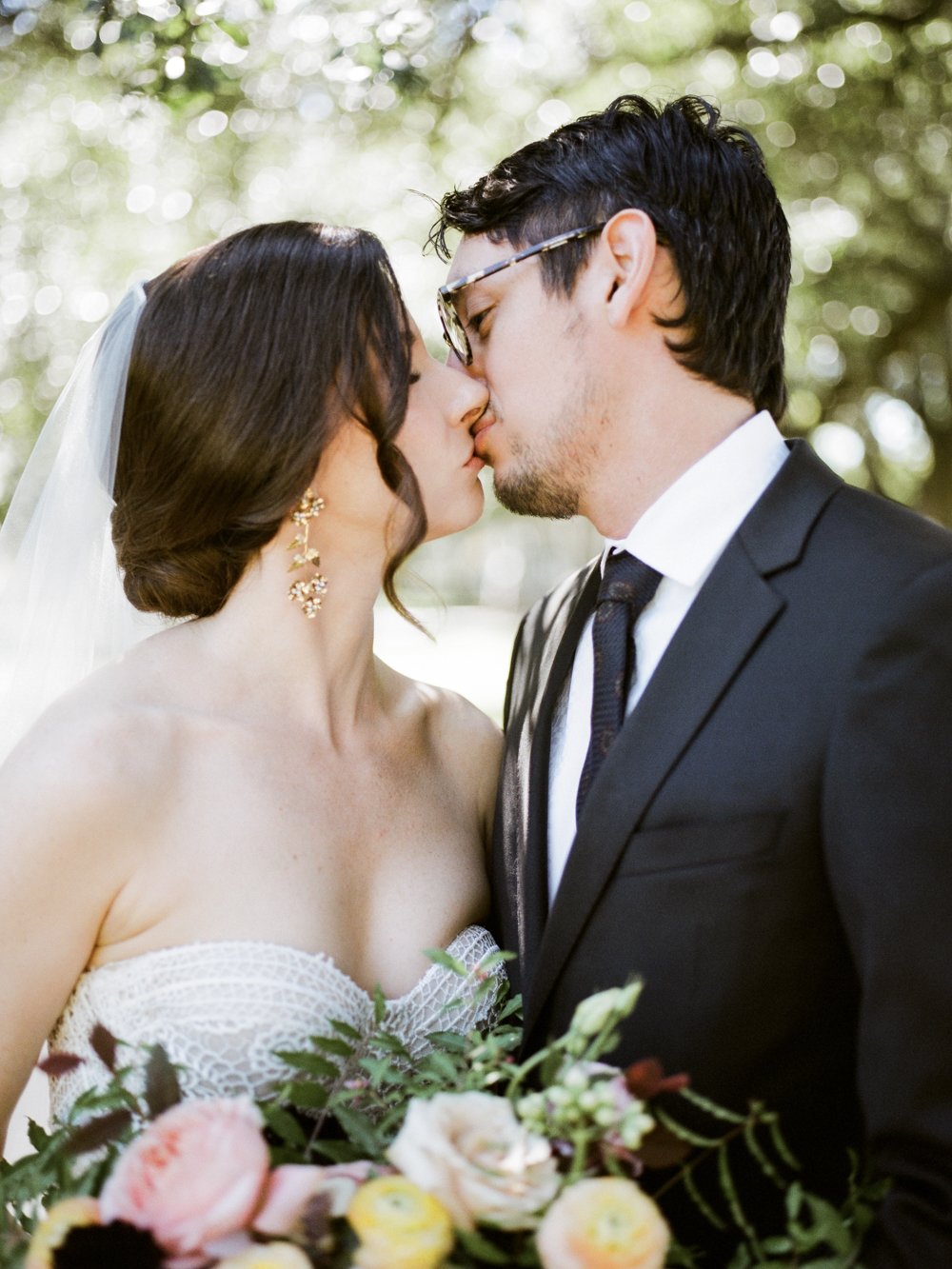 fall wedding at rothko chapel- houston wedding photographer-christine gosch - film photographer - elopement photographer- intimate wedding - lovely bride wedding gown-6.jpg