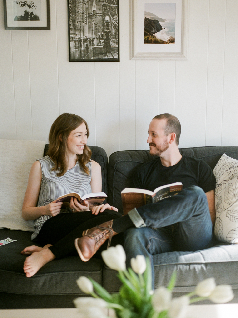 Christine Gosch- home engagement session- austin film photographer-  houston film photographer- in home session- engagment session- film wedding photographer-3.jpg