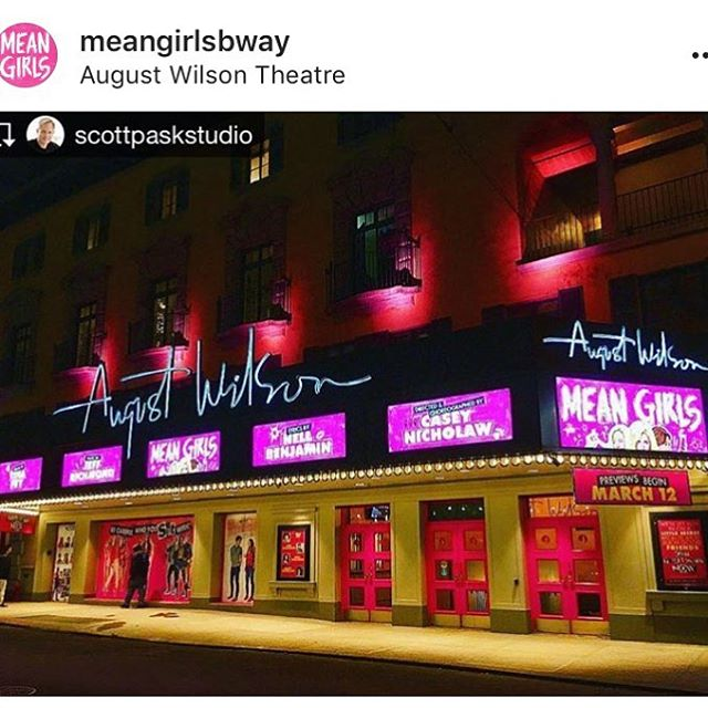 First preview of @meangirlsbway 🦁👯🎹🎧 let's do this thing!