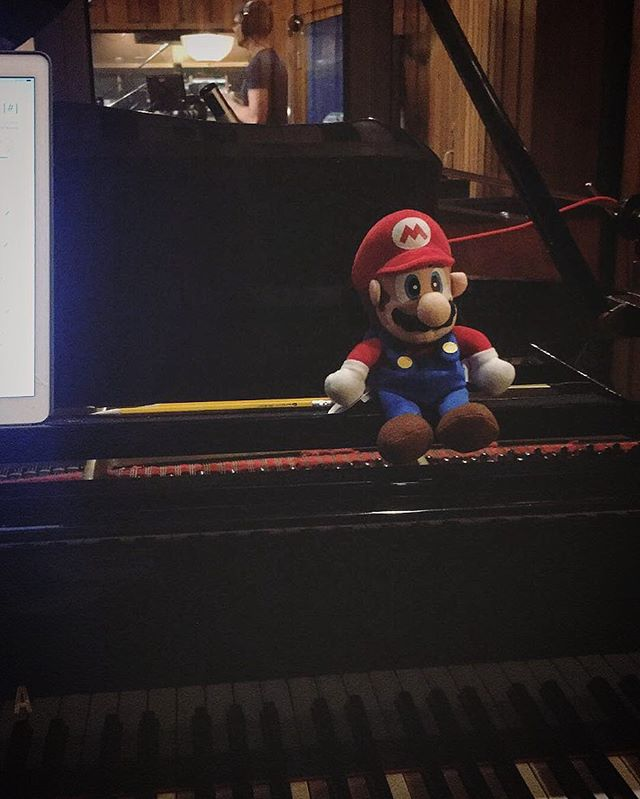 Spent the day playing some keys for the most epic recording session with @the8bitbigband, orchestrated brilliantly & conducted by @crosenmusic.  Can't wait to see how the video turns out — stay tuned! 🎮🎷🎺🎸🥁🎹🎻🎤🎼 #the8bitbigband #mariobros #supermario #luigi #nintendo #piano #8bitbigband