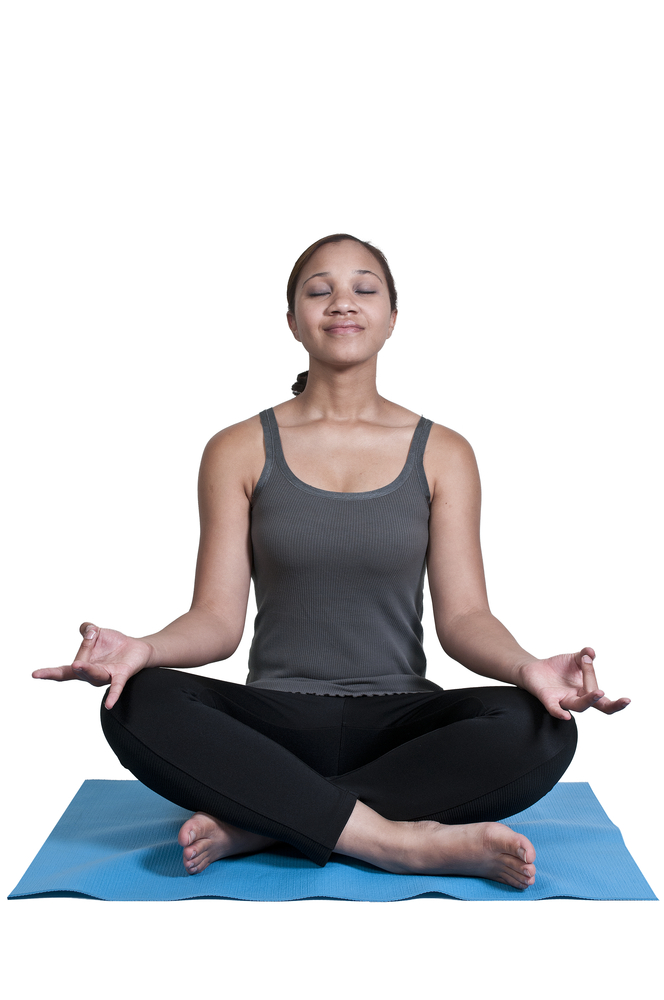 Calm Woman in a seated Yoga Pose