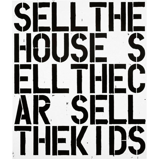 Apocalypse now, 1988, Christopher Wool