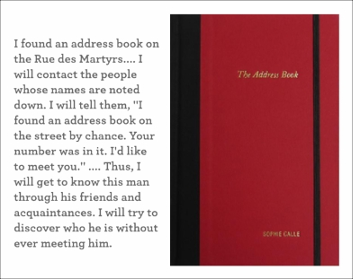 "Sophie Calle - ""The Address Book"""