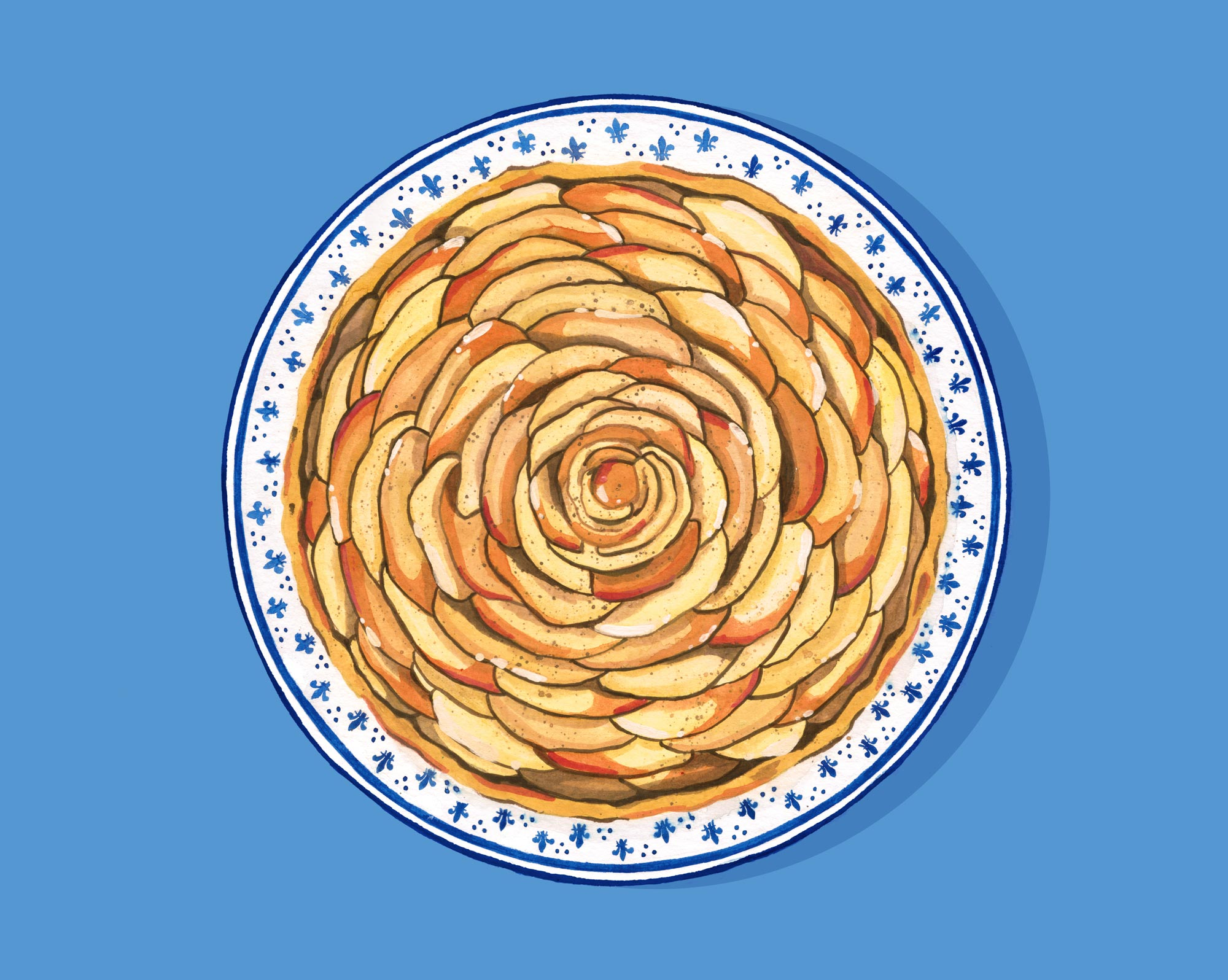A is for Apple Tart Andrea Gonzalez illustration
