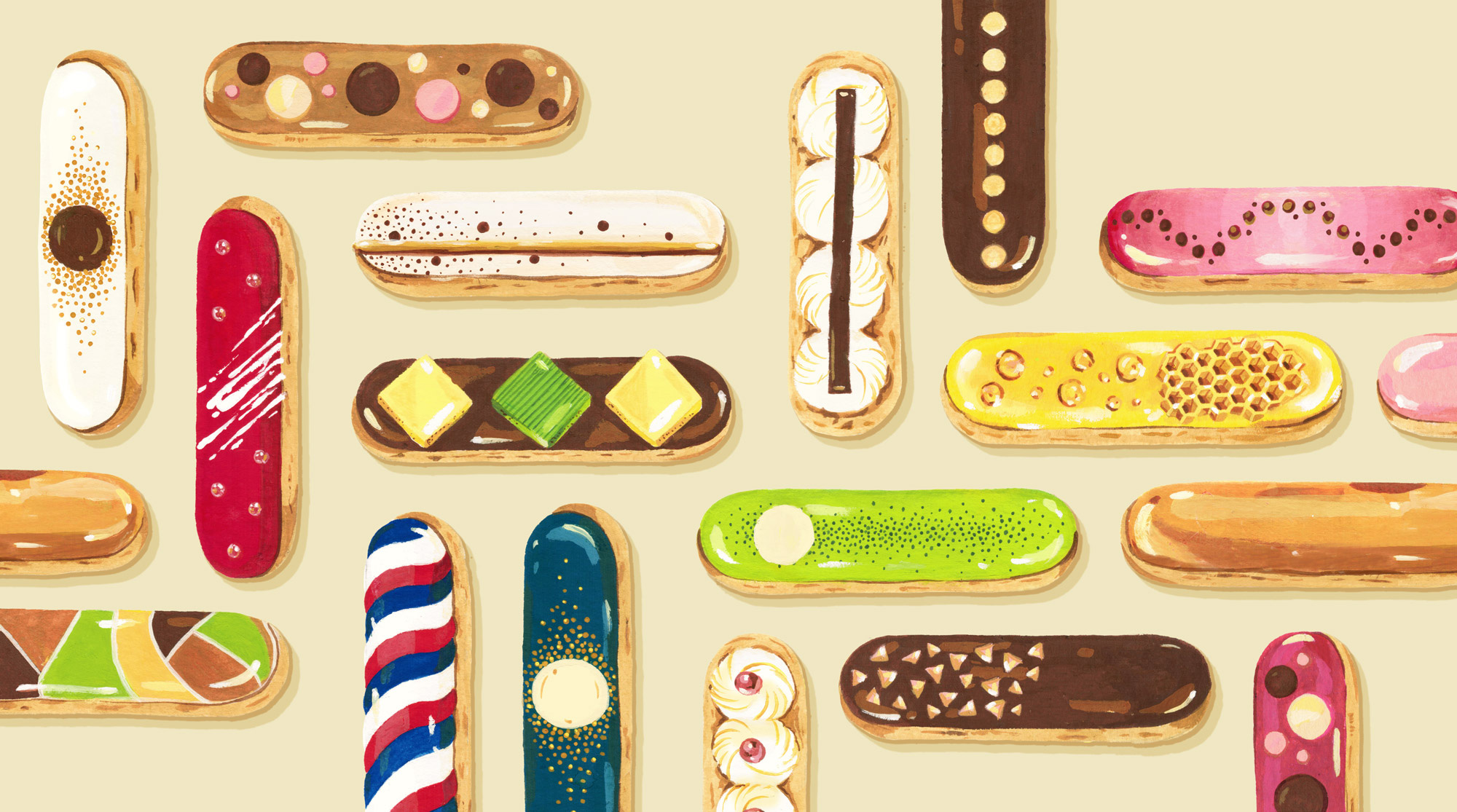 Andrea Gonzalez illustration E is for eclairs