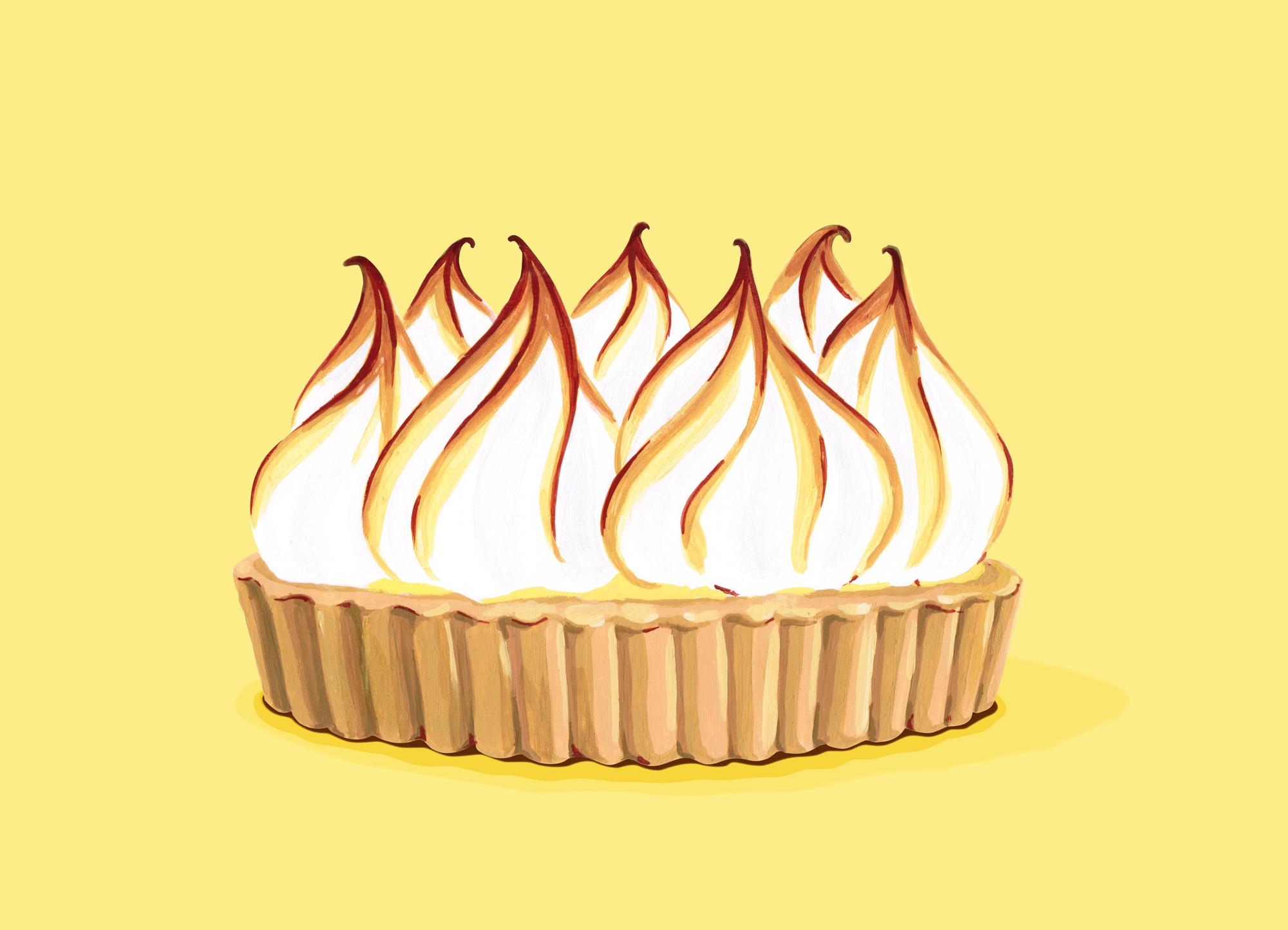 Andrea Gonzalez illustration L is for Lemon-Meringue Pie