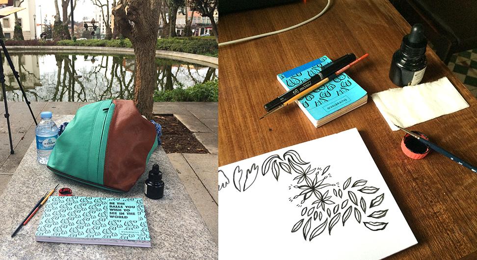Minimalist setup is the same at home & abroad: Porto, Portugal