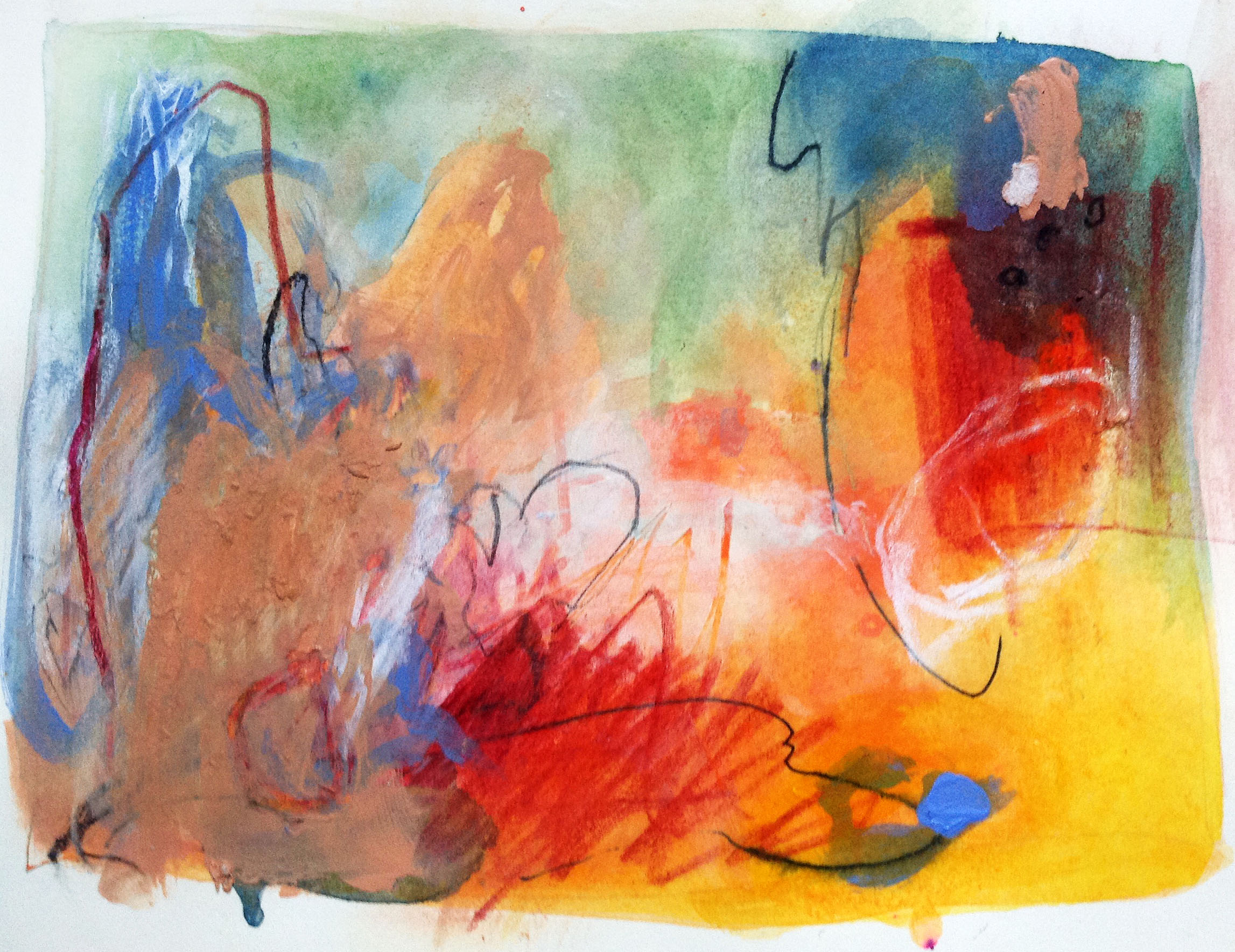 Acrylic and graphic on paper 14WOP Original is NFS Giclee print only, any size