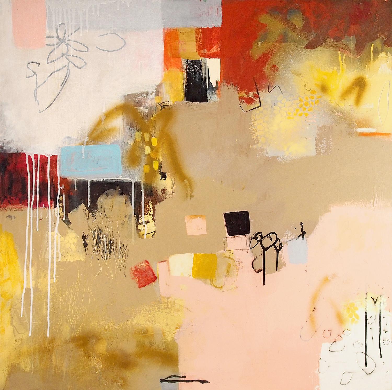 """jOY #3 Acrylic on wood panel 15LWP104 36"""" x 36"""" x 1 1/2"""""""