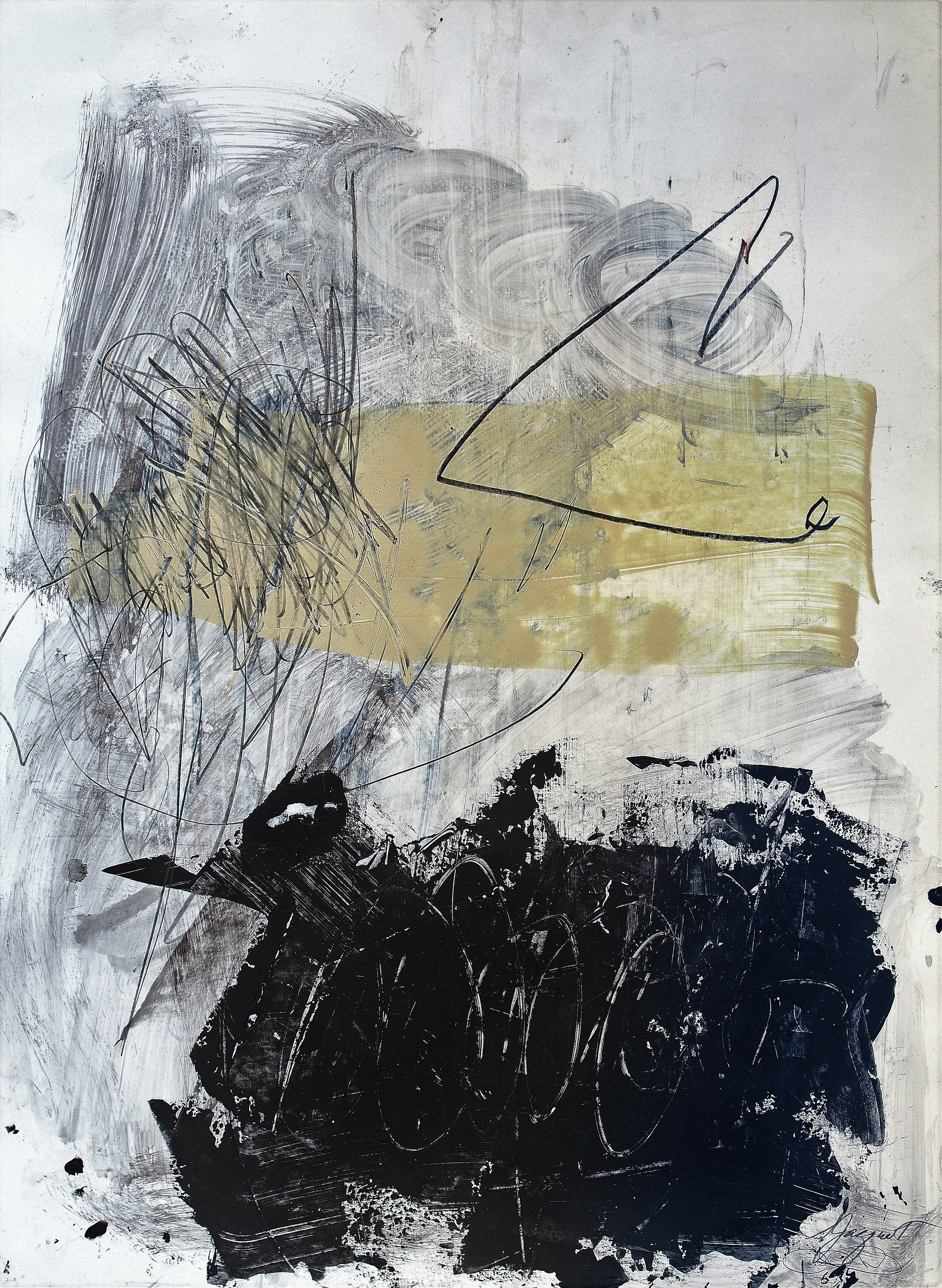 Acrylic and graphite on paper Collaboration with Carl Heyward 16WOP Not For Sale