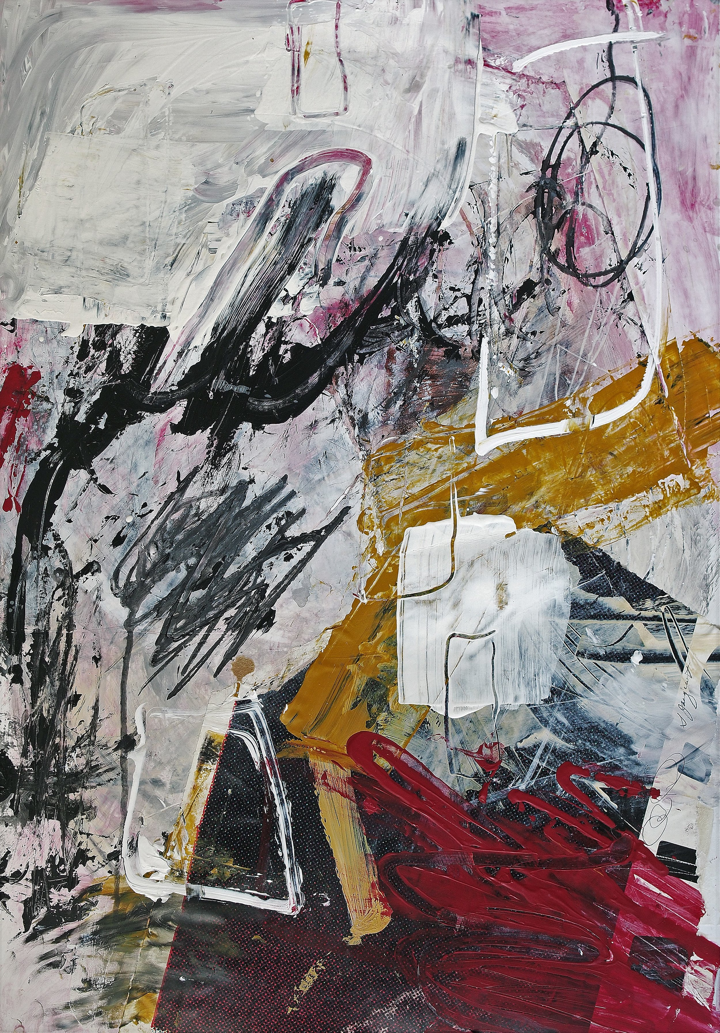 Acrylic on paper Collaboration with Carl Heyward 16WOP Not For Sale