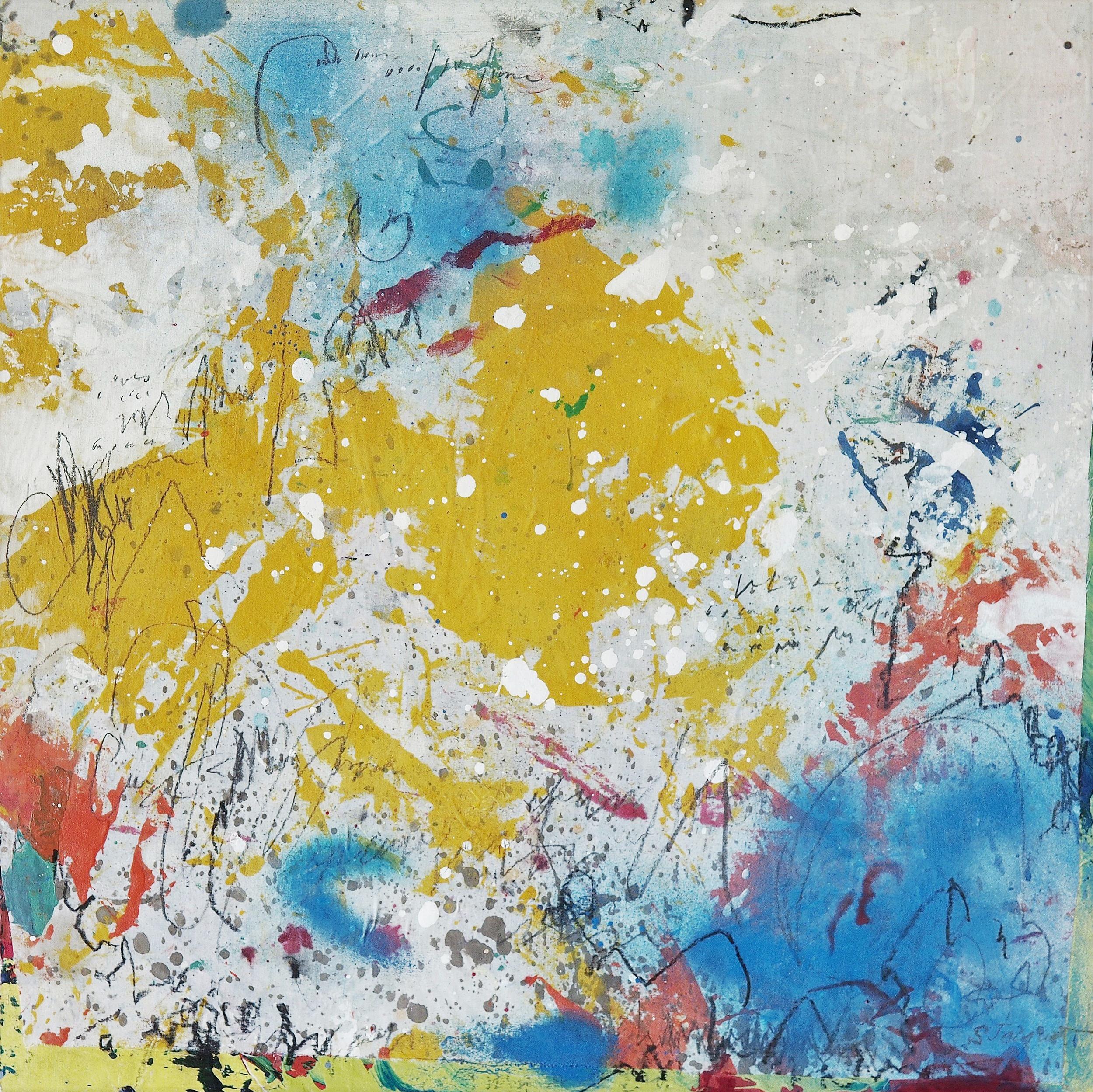 """Acrylic on cloth on wood panel 16SWP109 20"""" x 20"""" x 1.5"""""""