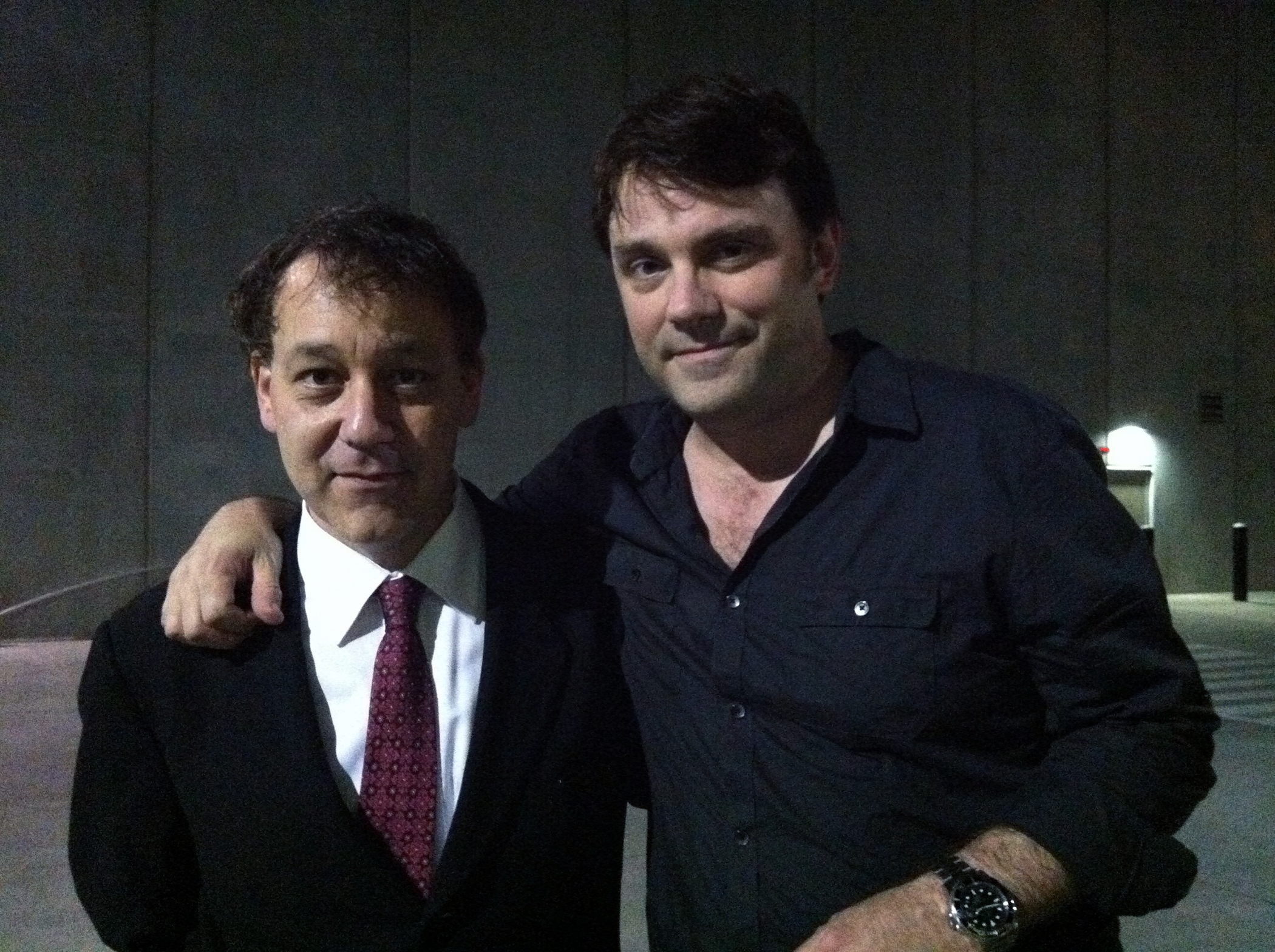 "With director Sam Raimi on the set of ""Oz The Great and Powerful"""