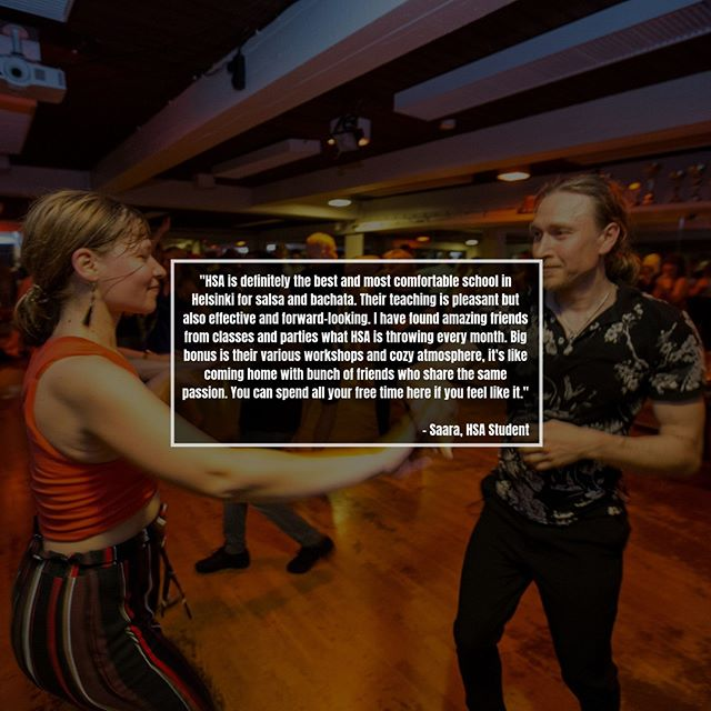 Always grateful to read the feedback of our students ❤️ Thank you for the kind words, you all constantly inspire us to be better ✨  #salsa #bachata #dance #salsaparty #latin #party #music #salsadancing #salsadance #musica #dancers #dancelife #bachatadancing #fun #latinmusic #danceparty #Salsa #salsadancers #tanssi #socialdancetv #helsinkisalsaacademy #hsafun #salsaworkshop #salsaclasses