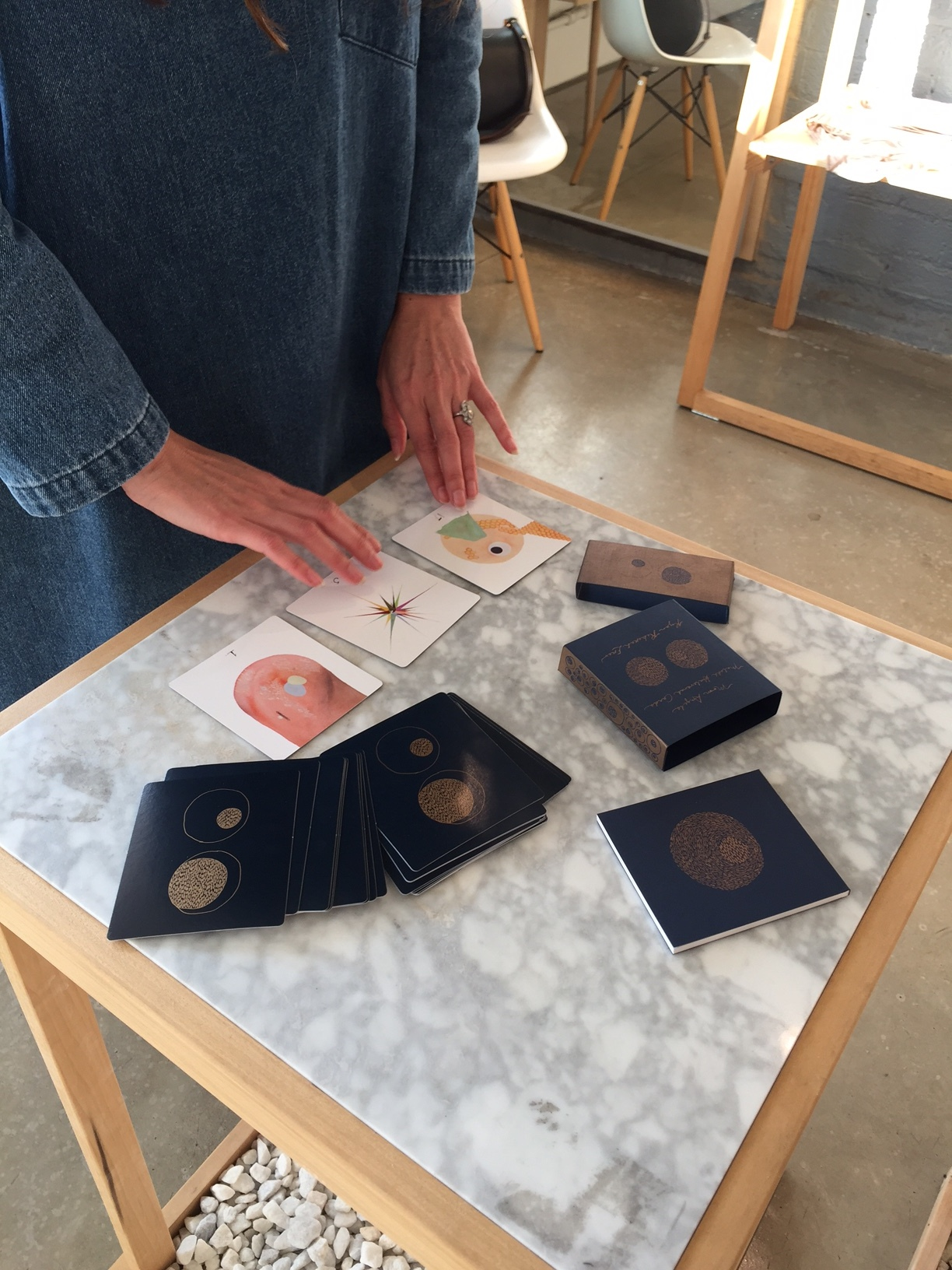 Moon Angel Card Reading. photo by Sonya Rifkin